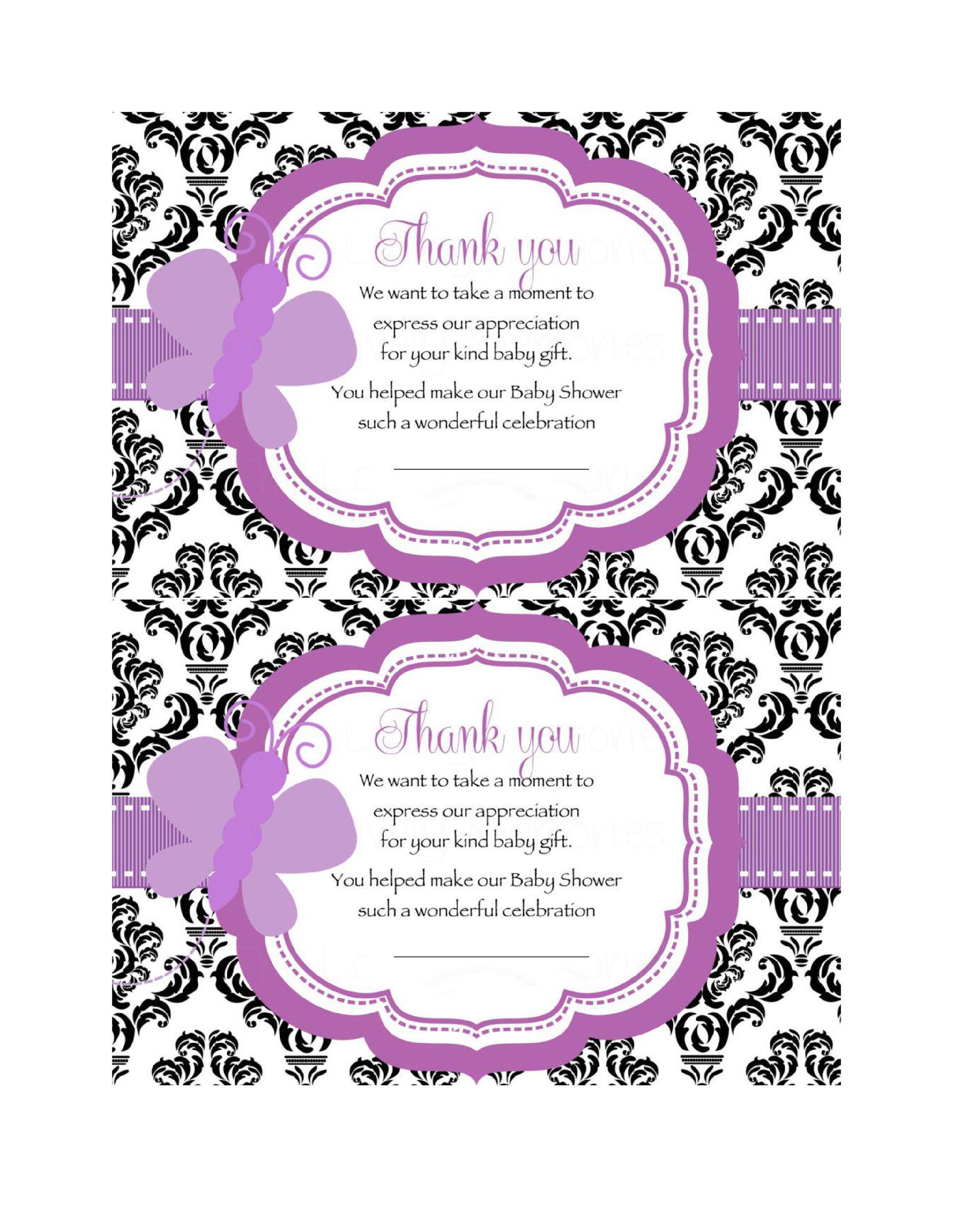 30+ Free Printable Thank You Card Templates (Wedding, Graduation