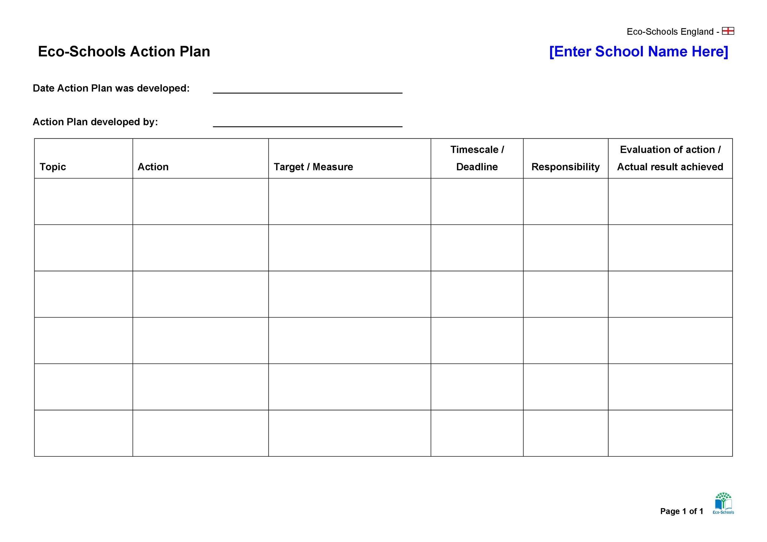 45 Free Action Plan Templates (Corrective, Emergency, Business) - plan of action template