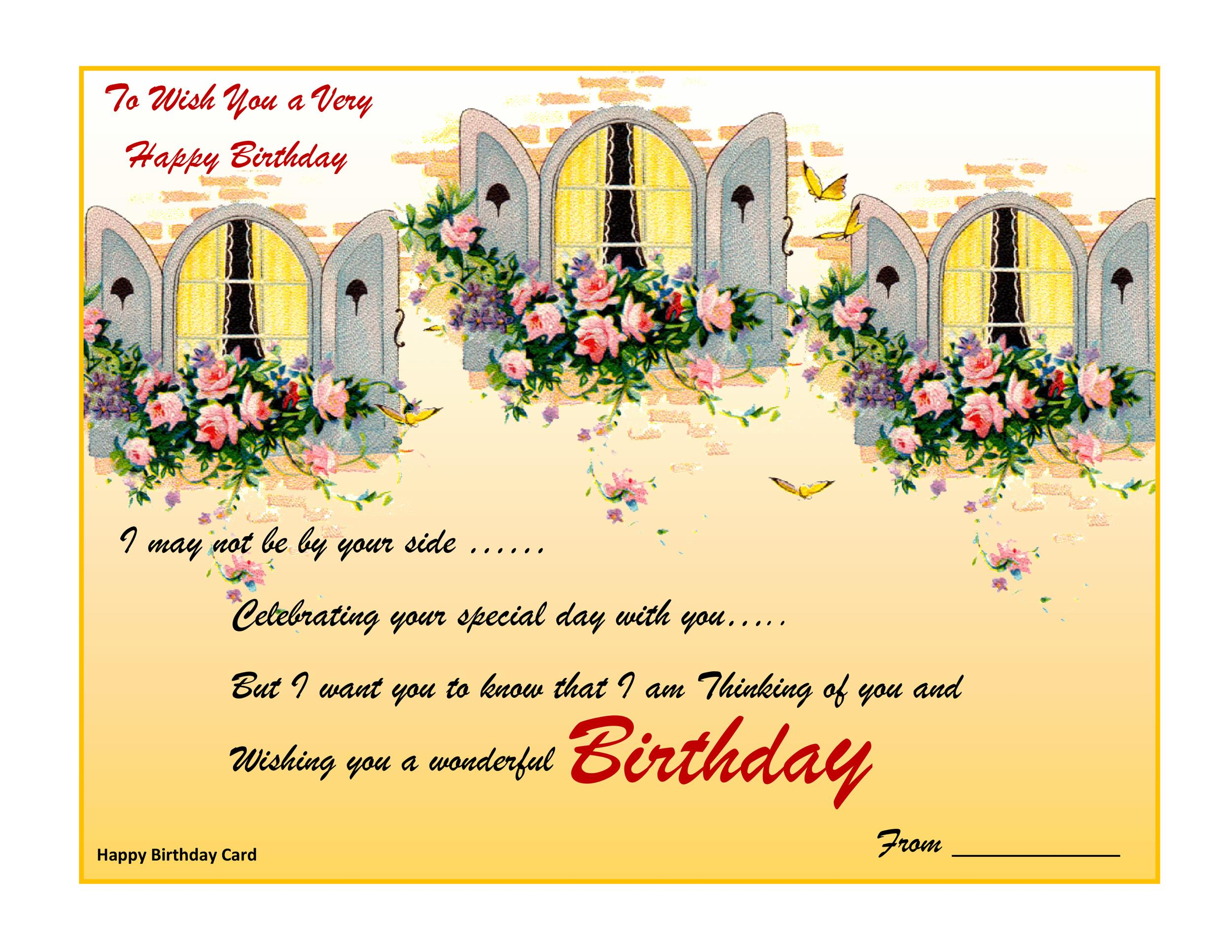 40+ FREE Birthday Card Templates - Template Lab - printable birthday card template