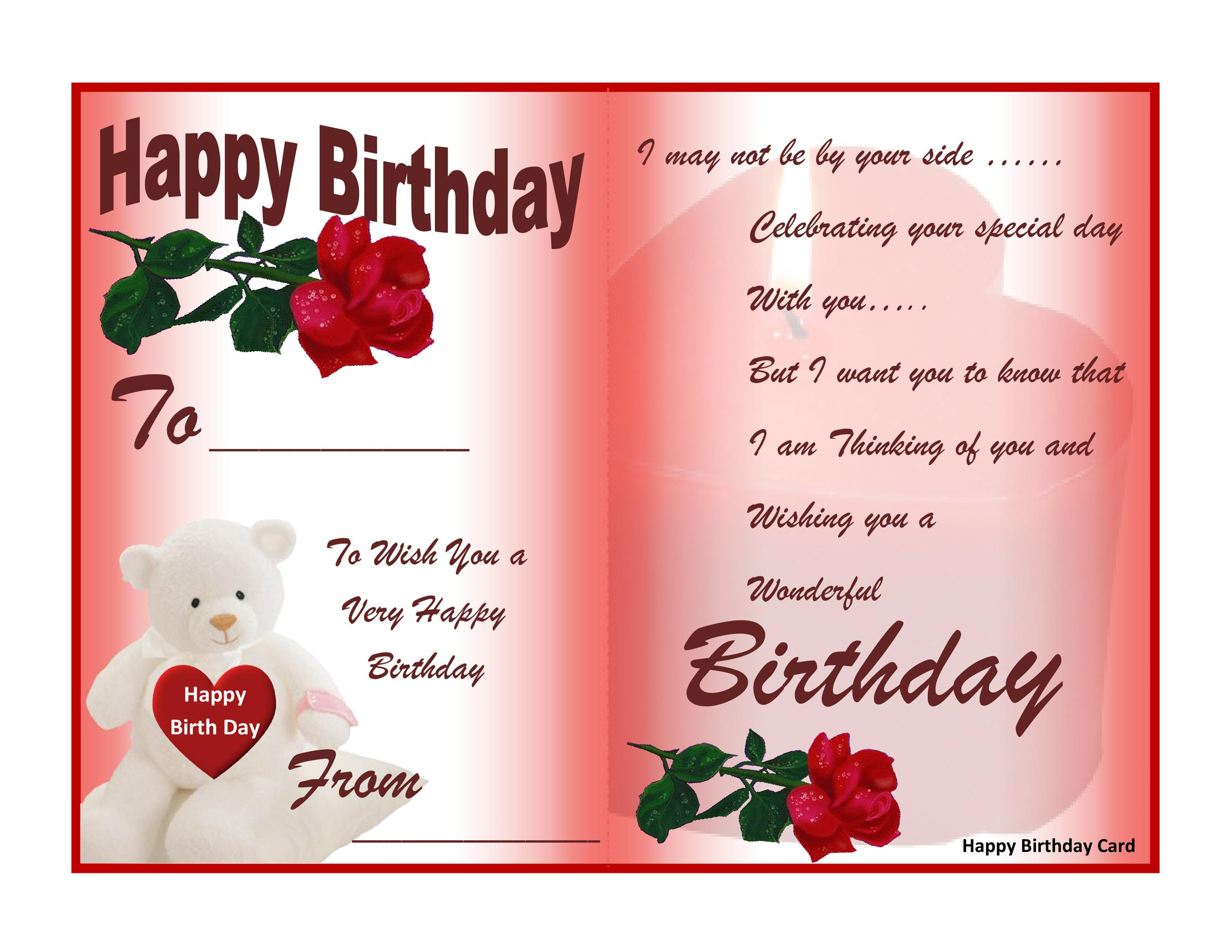 40+ FREE Birthday Card Templates - Template Lab - Birthday Card Sample