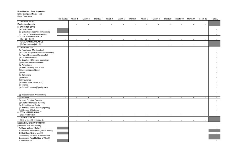 40+ FREE Cash Flow Statement Templates \ Examples - Template Lab - cash flow statement