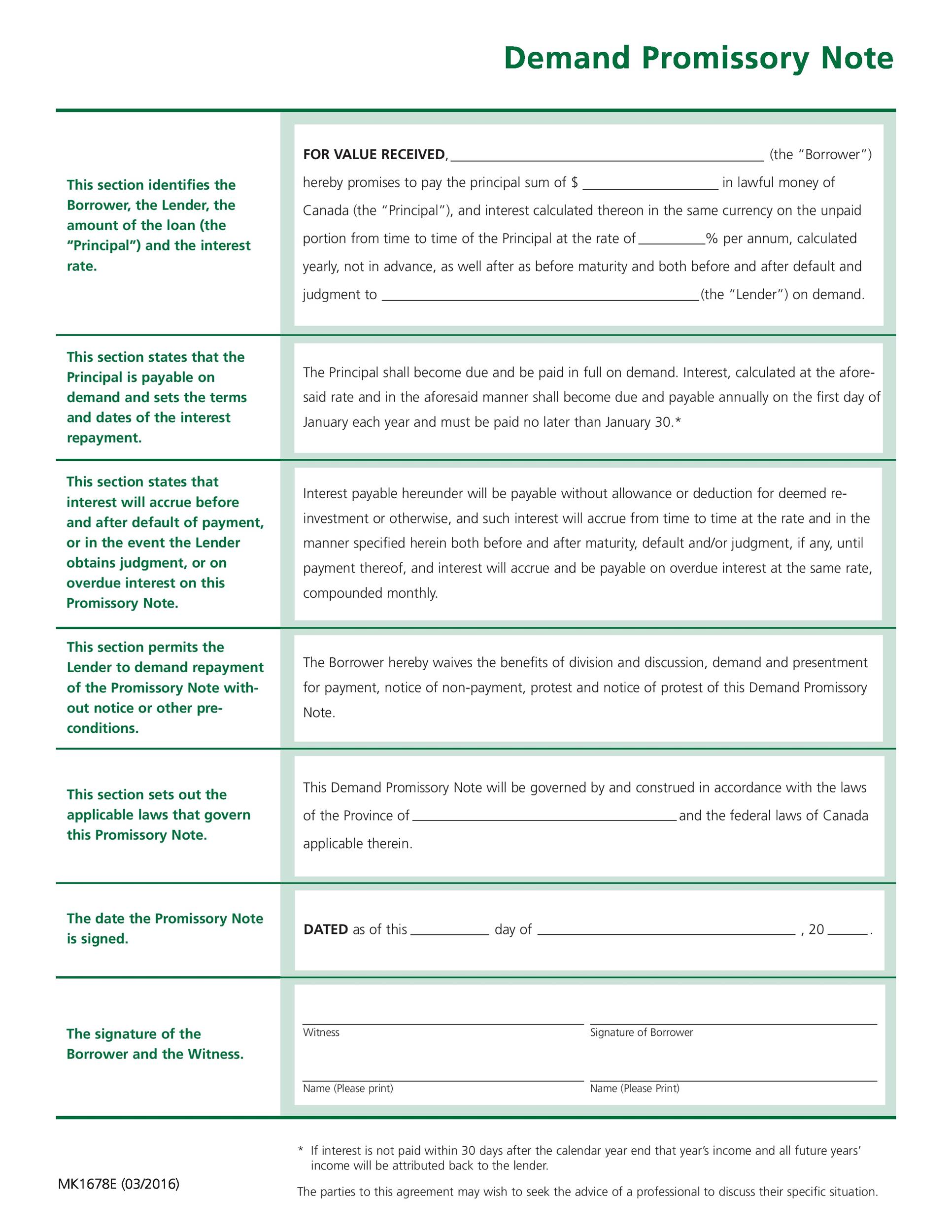 sample contract for borrowing money
