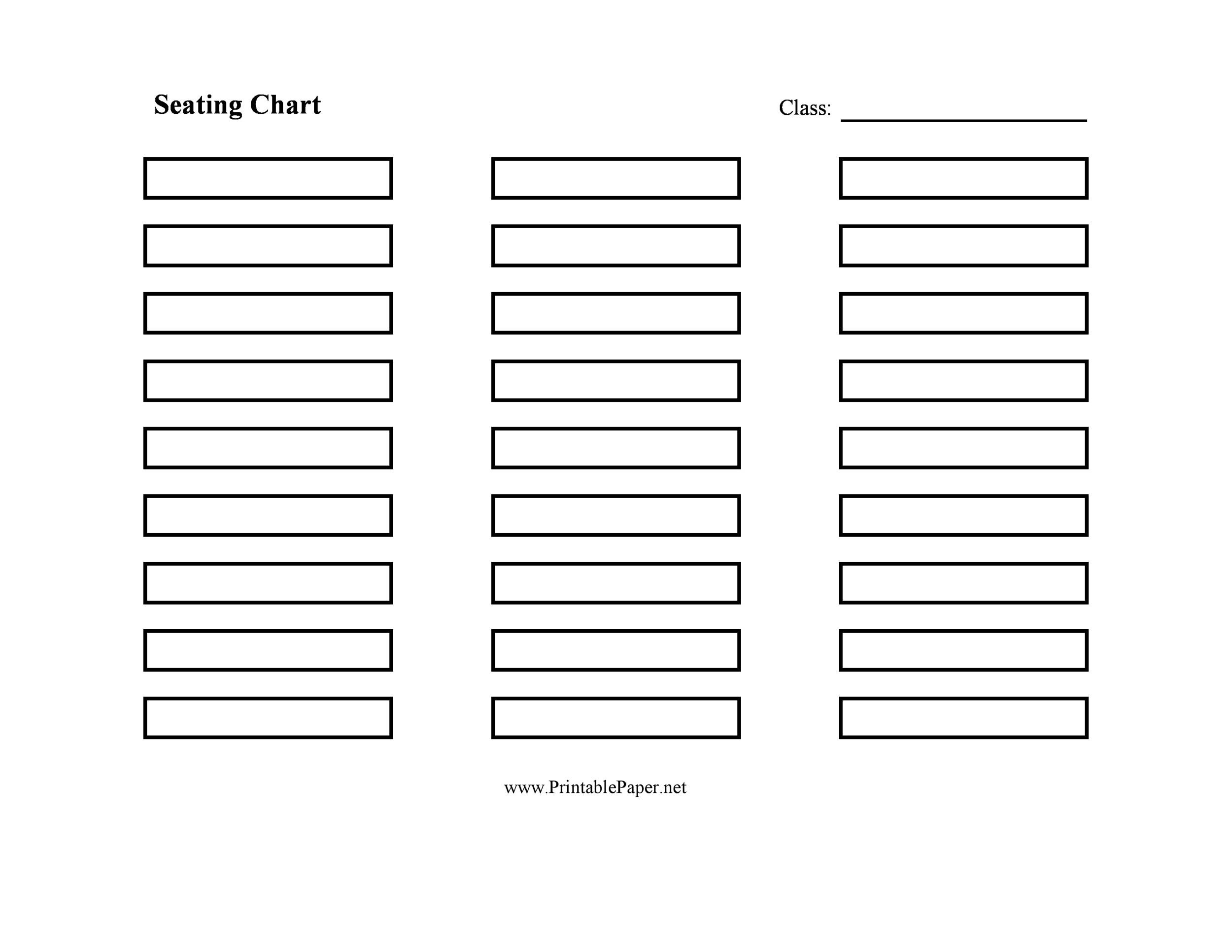 seating chart template - fototango