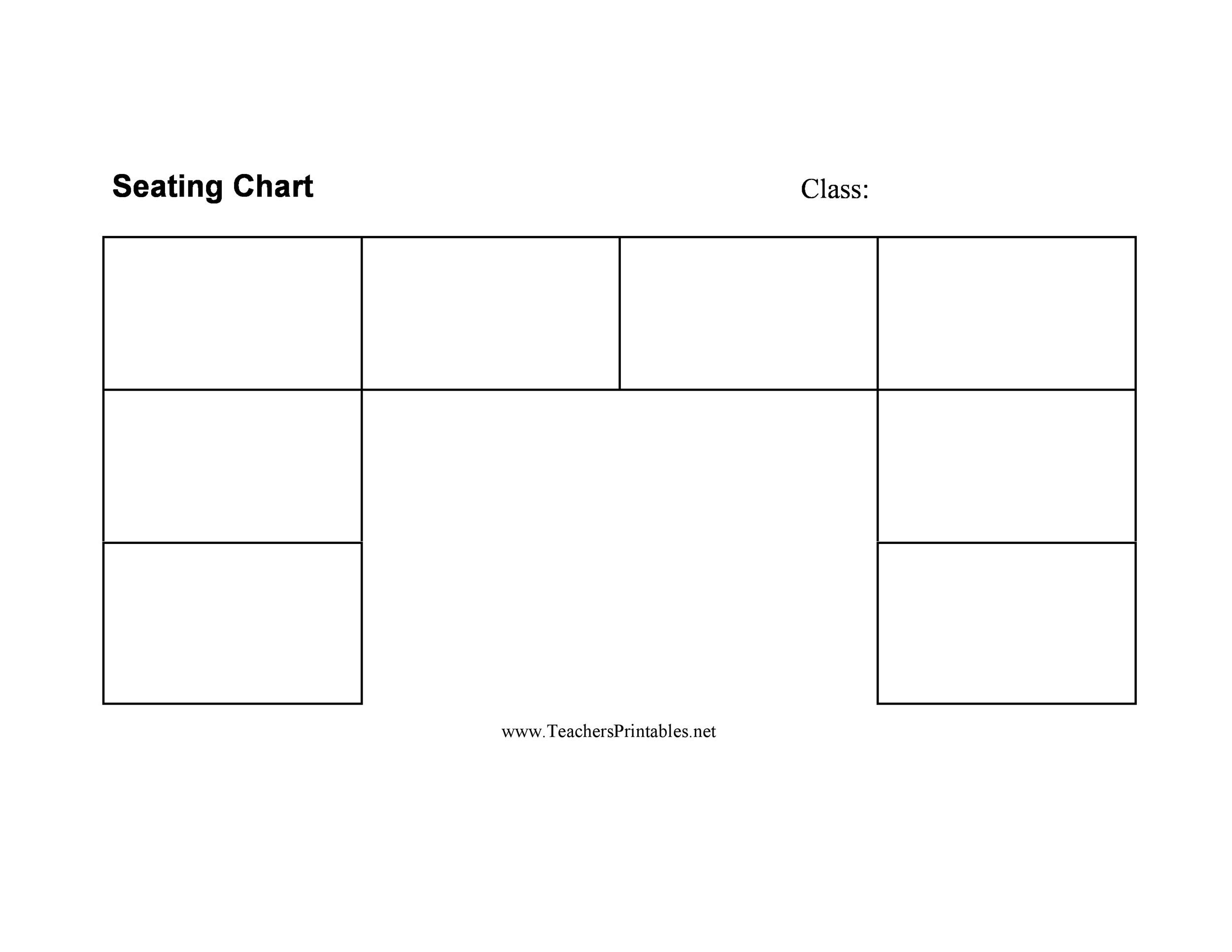 40+ Great Seating Chart Templates (Wedding, Classroom + more) - printable seating charts