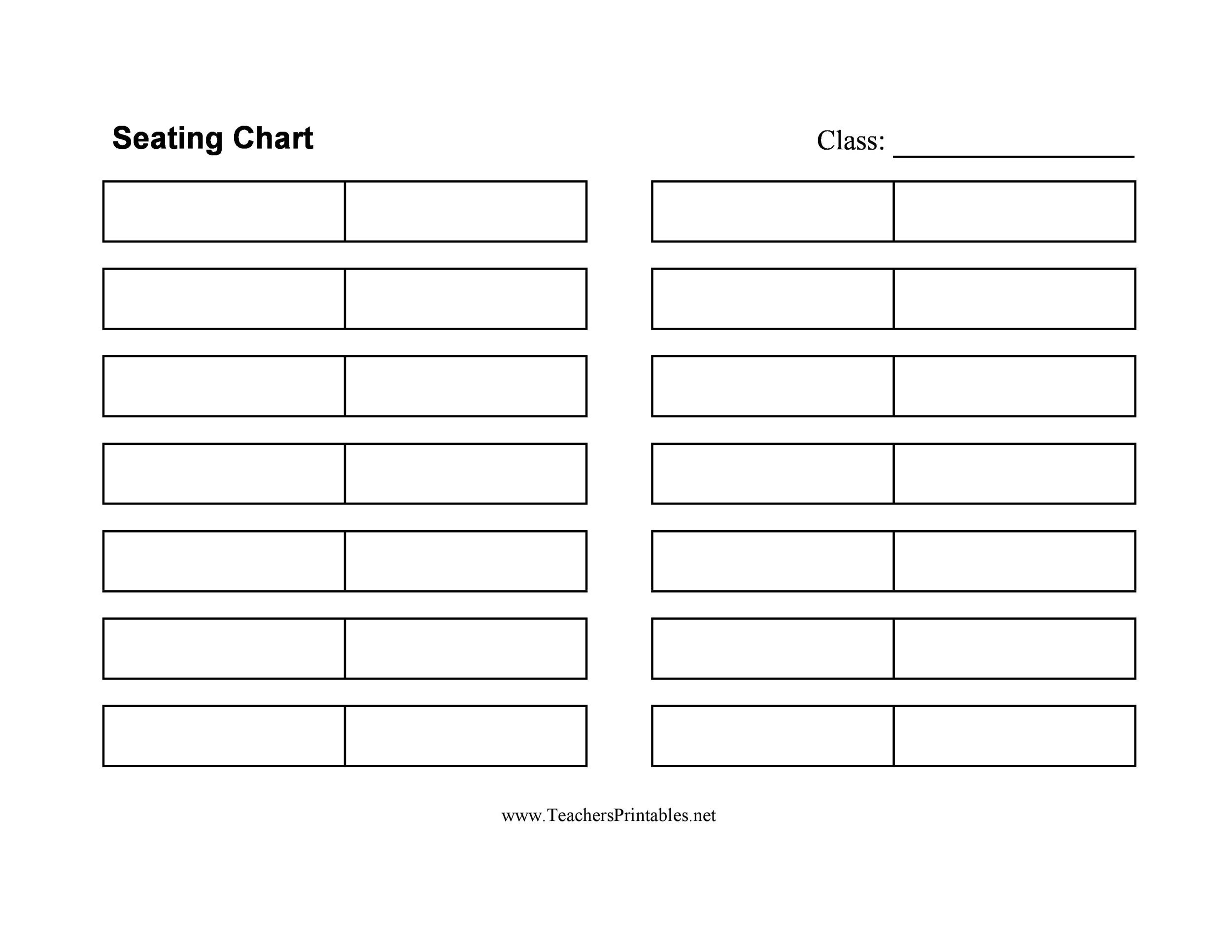 40+ Great Seating Chart Templates (Wedding, Classroom + more)