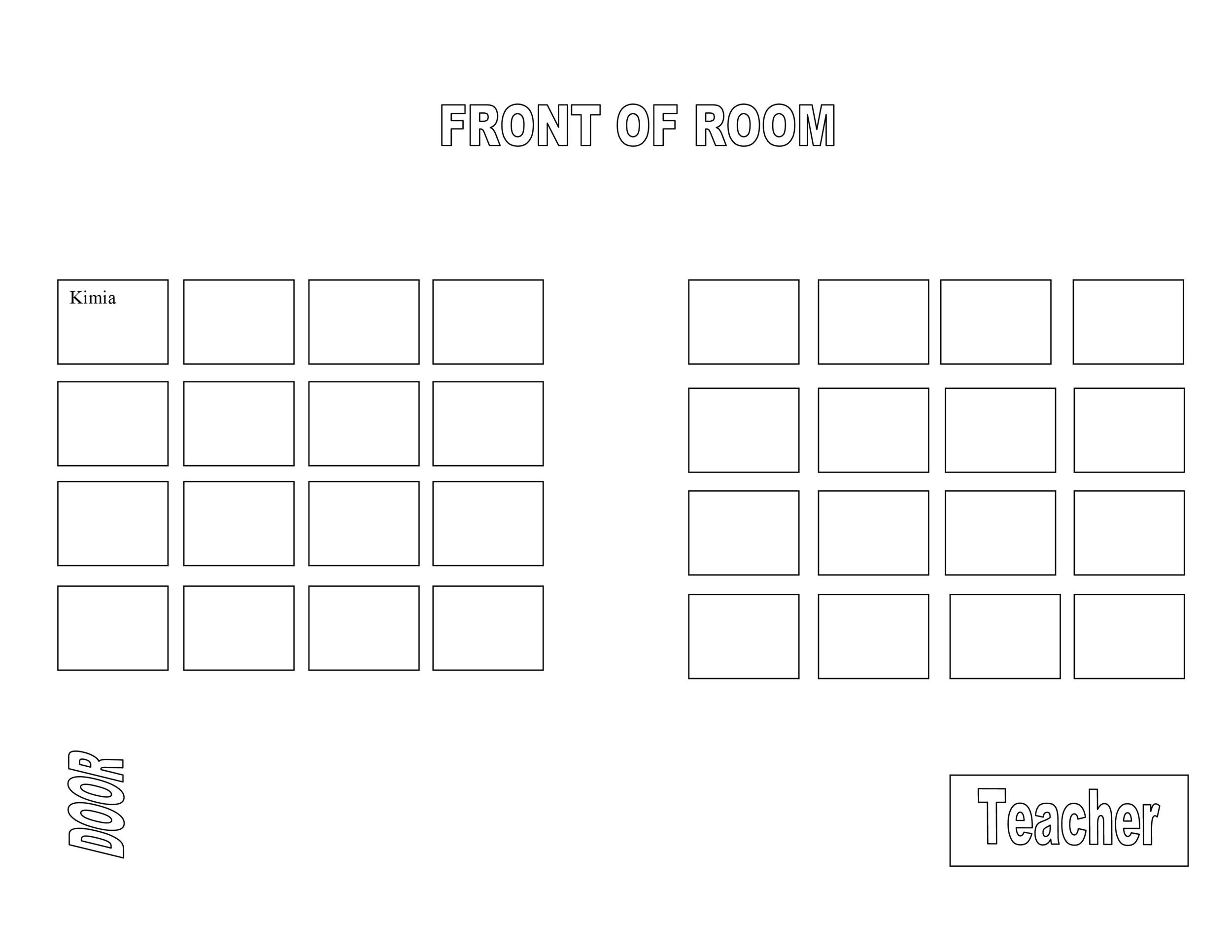 40+ Great Seating Chart Templates (Wedding, Classroom + more) - Classroom Seating Chart Templates