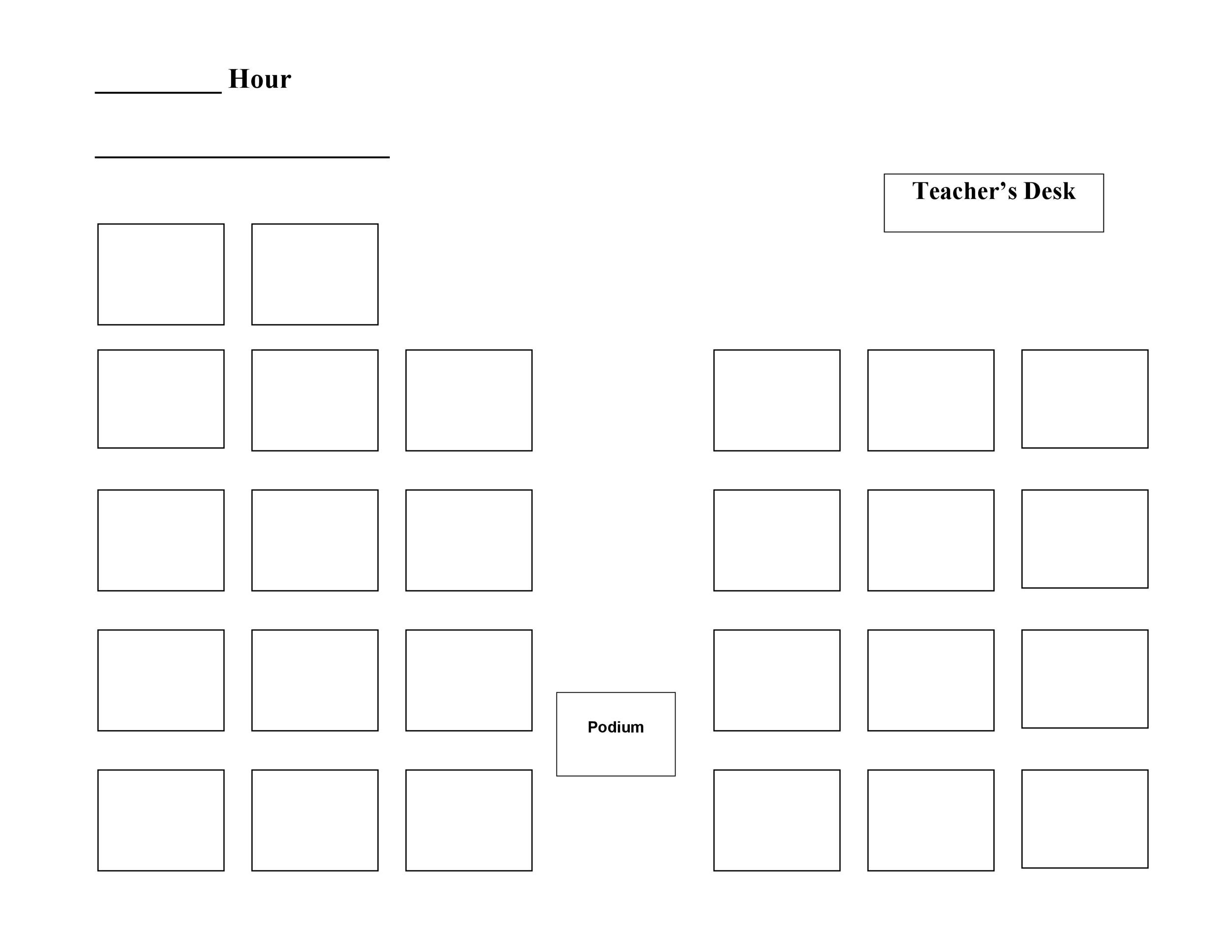 Seating Chart Templates - 28 Images - Classroom Seating Chart