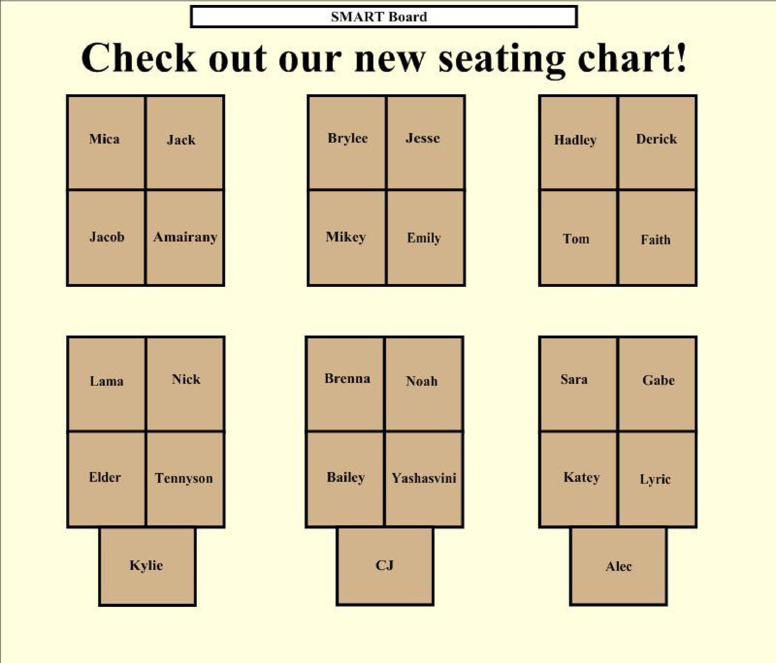 40+ Great Seating Chart Templates (Wedding, Classroom + more) - free printable seating chart