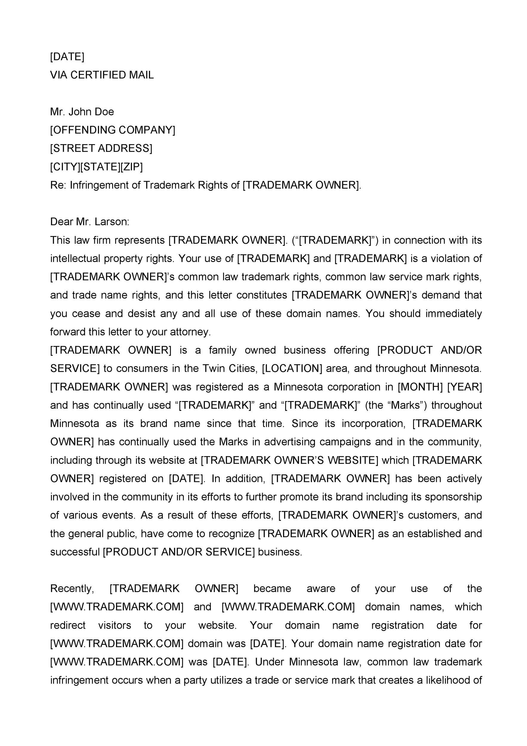 trademark cease and desist letter sample - Dolapmagnetband - Cease And Desist Letter Sample