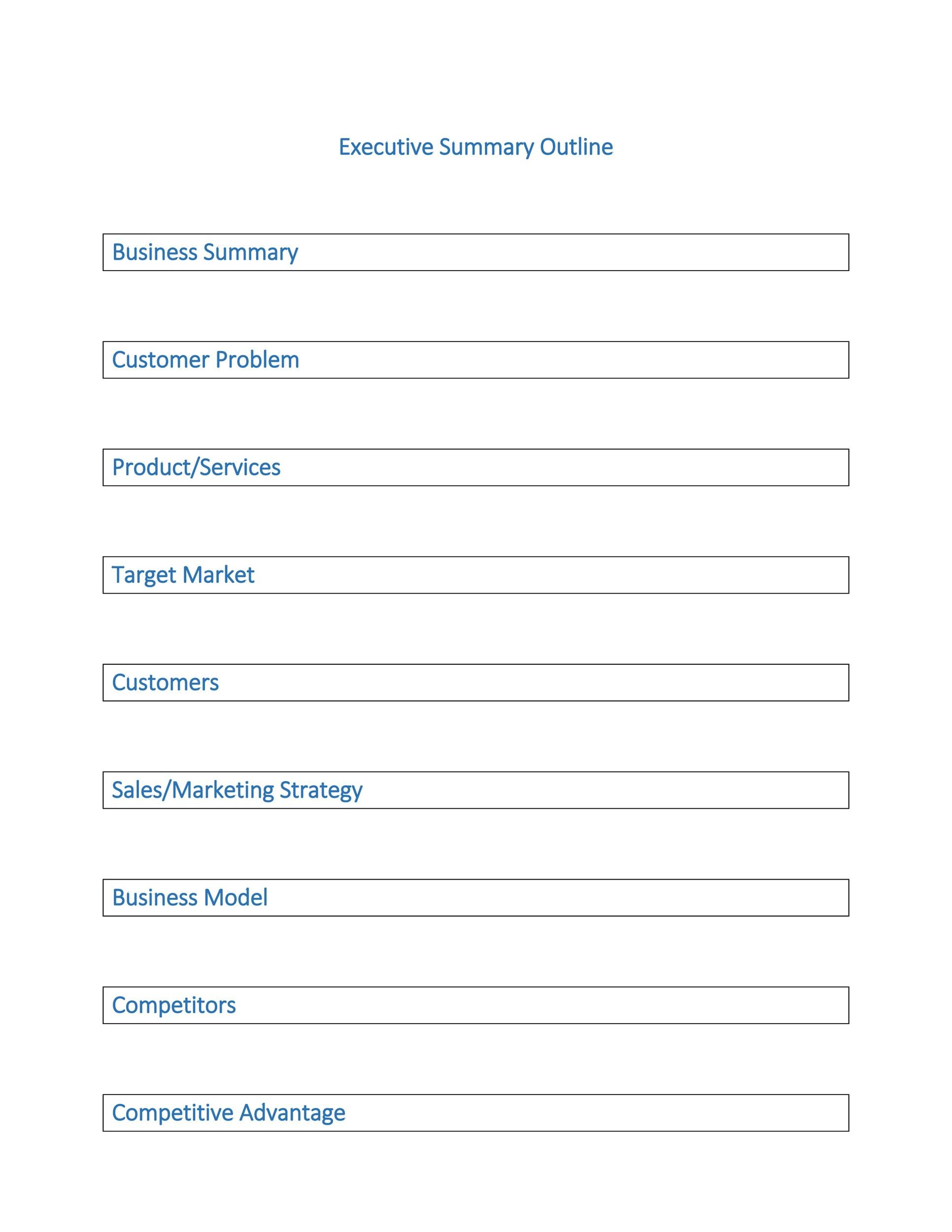 30+ Perfect Executive Summary Examples \ Templates - Template Lab - business summary template