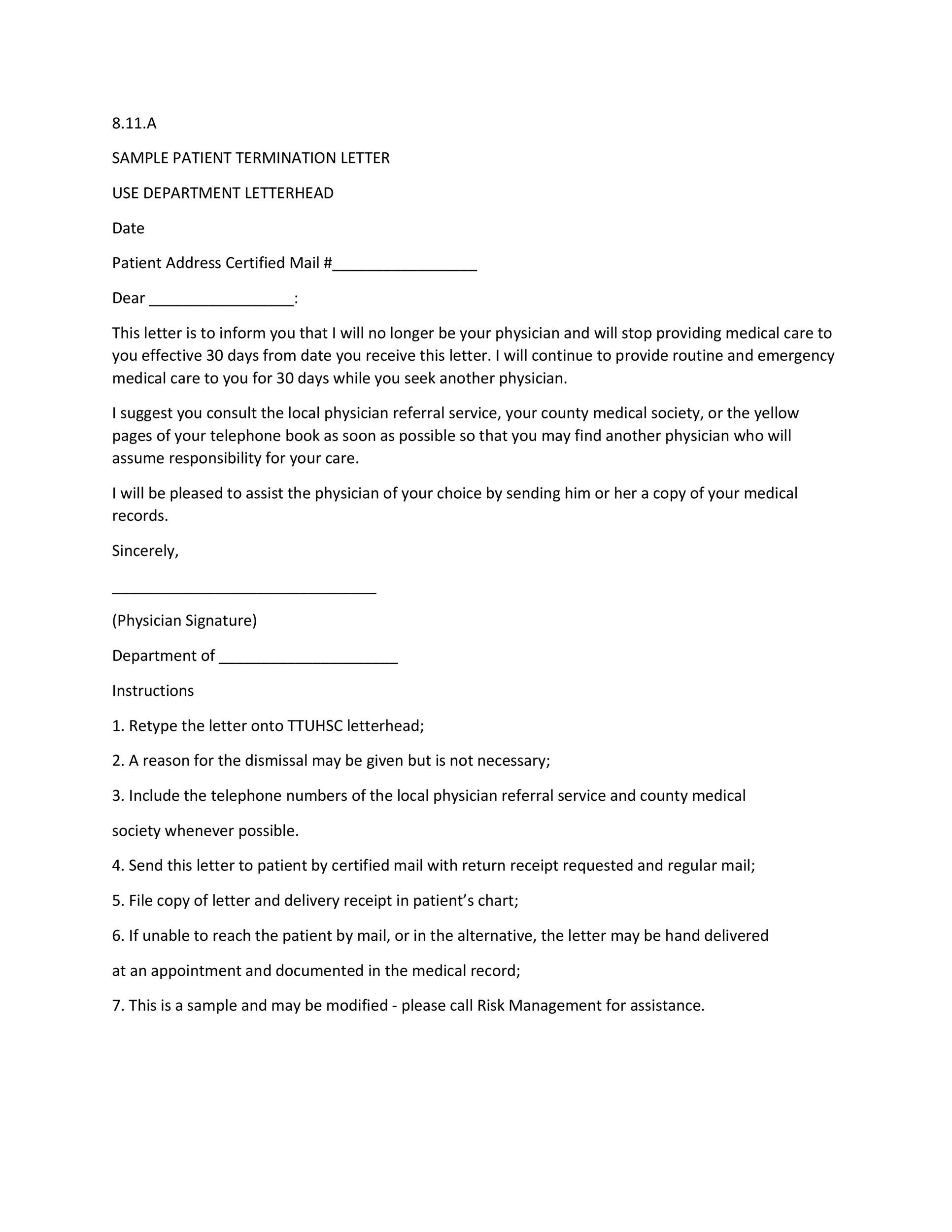 35 Perfect Termination Letter Samples Lease, Employee, Contract - contract termination letter sample