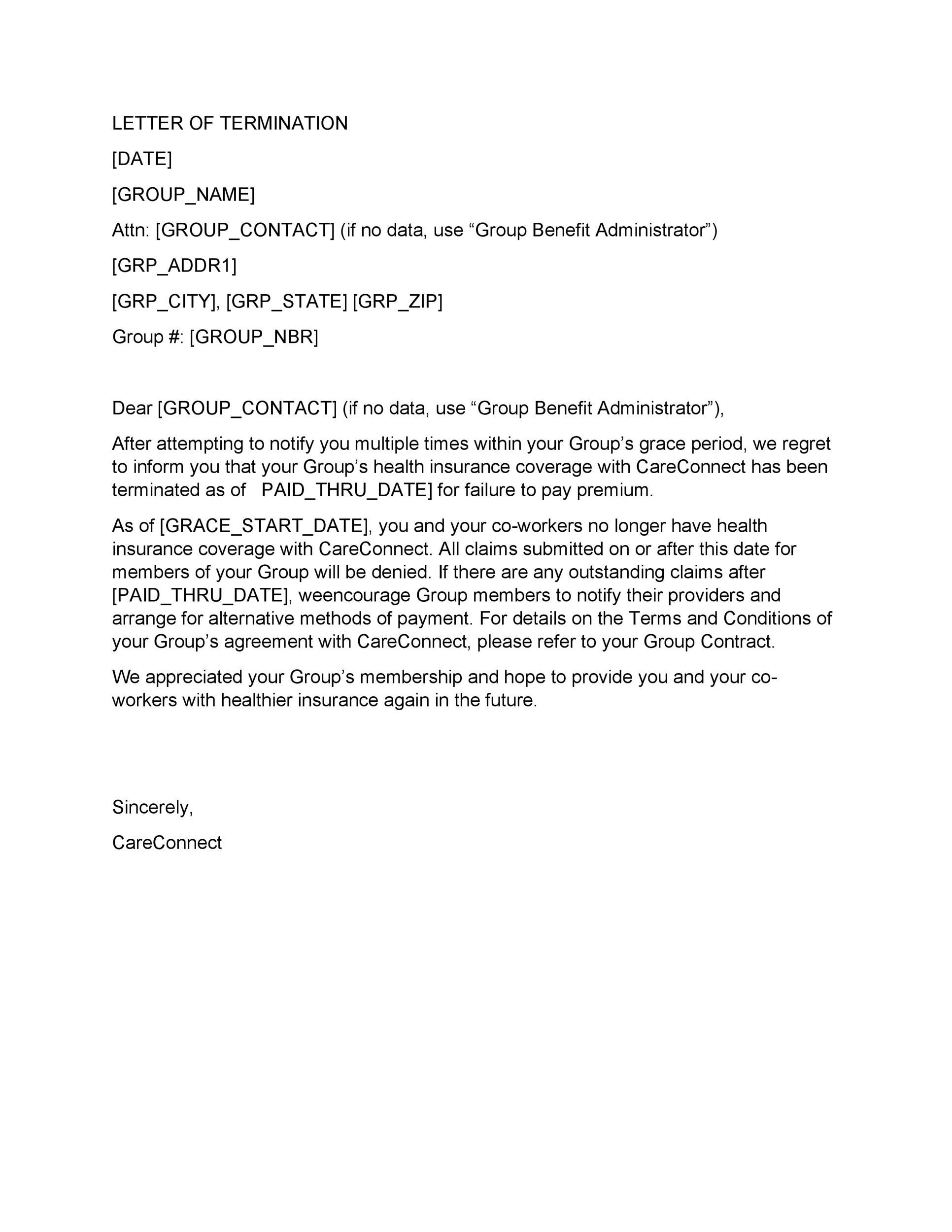 35 Perfect Termination Letter Samples Lease, Employee, Contract - termination letter description