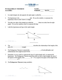 48 Pythagorean Theorem Worksheet with Answers [Word + PDF]
