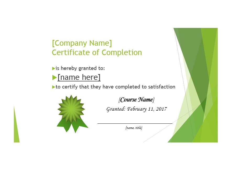 40 Fantastic Certificate of Completion Templates Word, PowerPoint