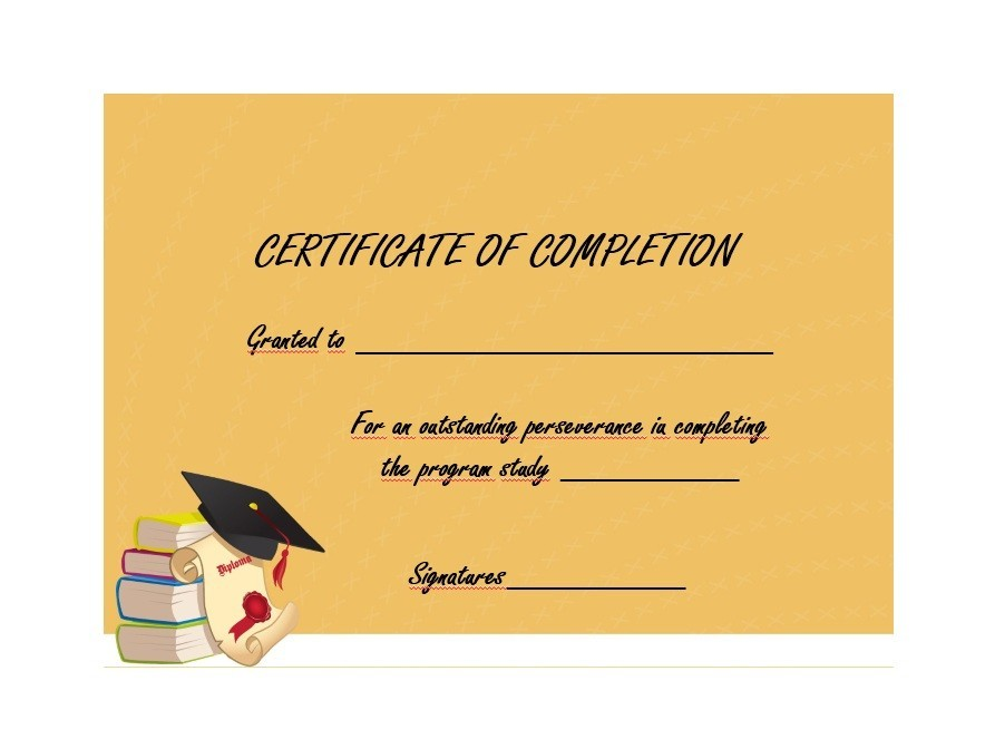 Word Certificate Completion Templates  Certificate Of Completion