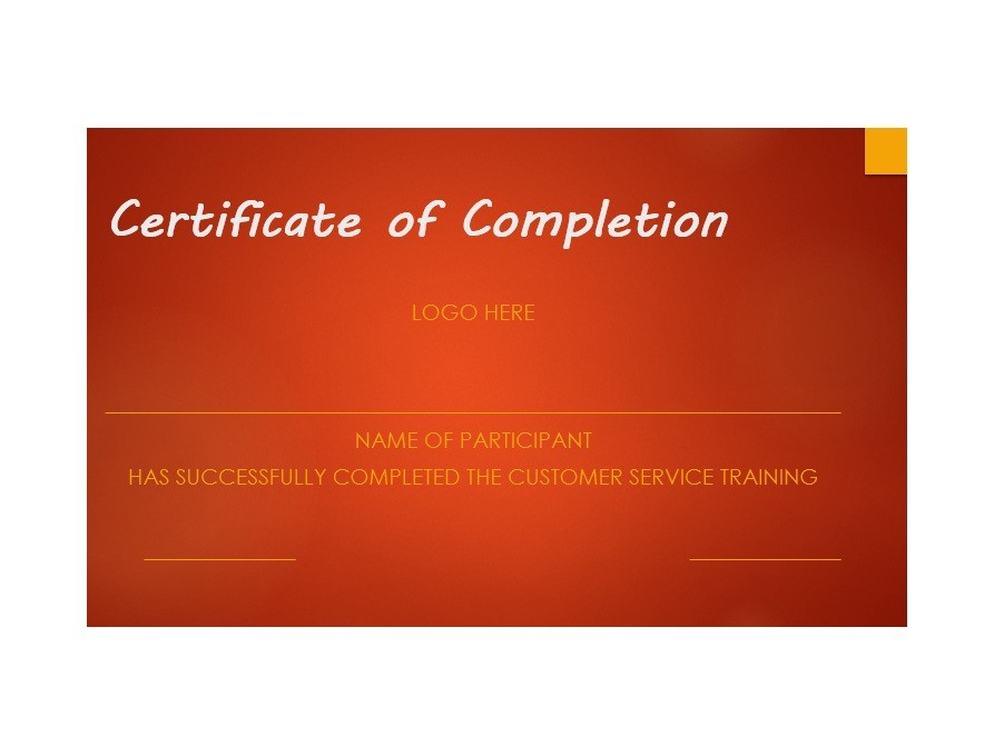 40 Fantastic Certificate of Completion Templates Word, PowerPoint - sample of certificate of training completion