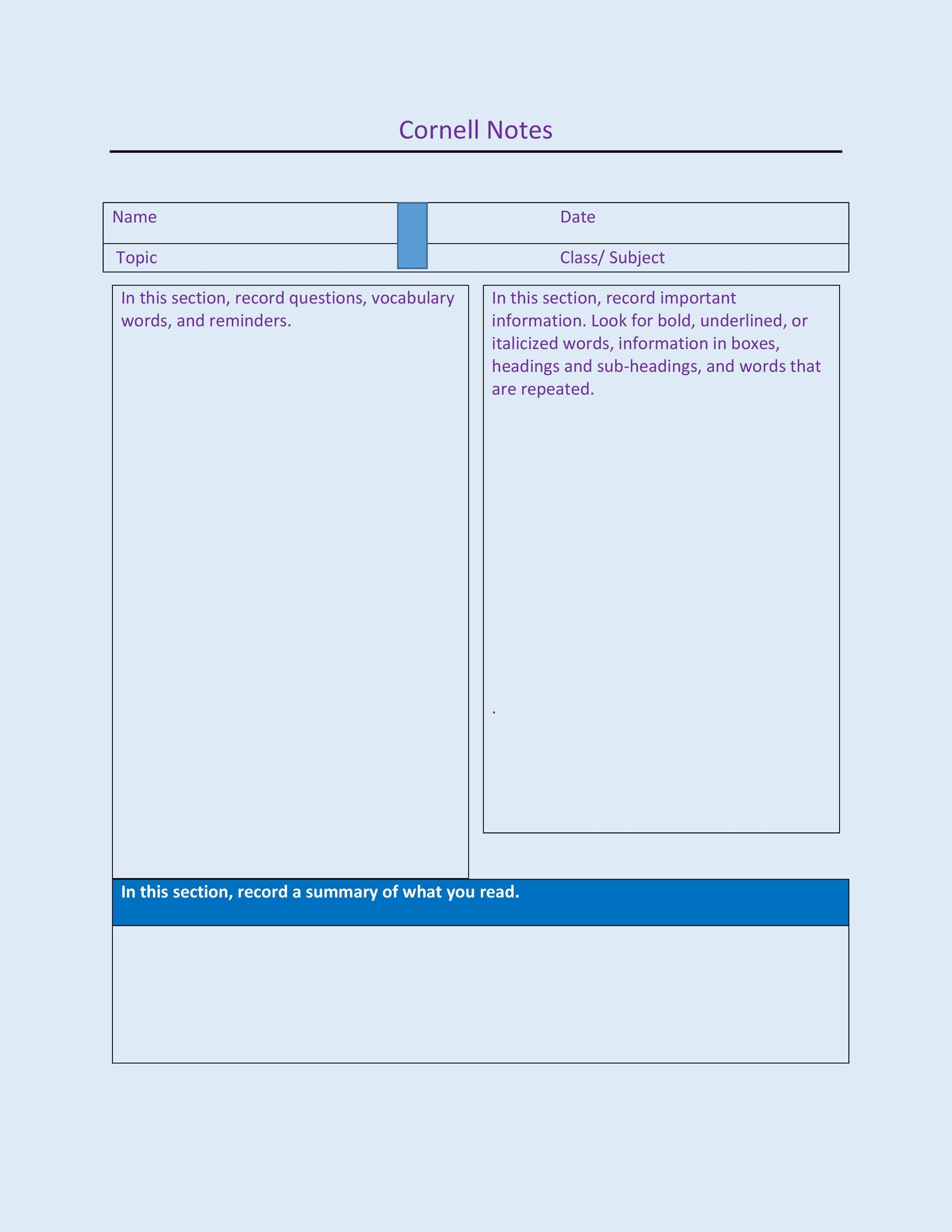 100+ [ cornell notes template download microsoft word ] | free, Modern powerpoint