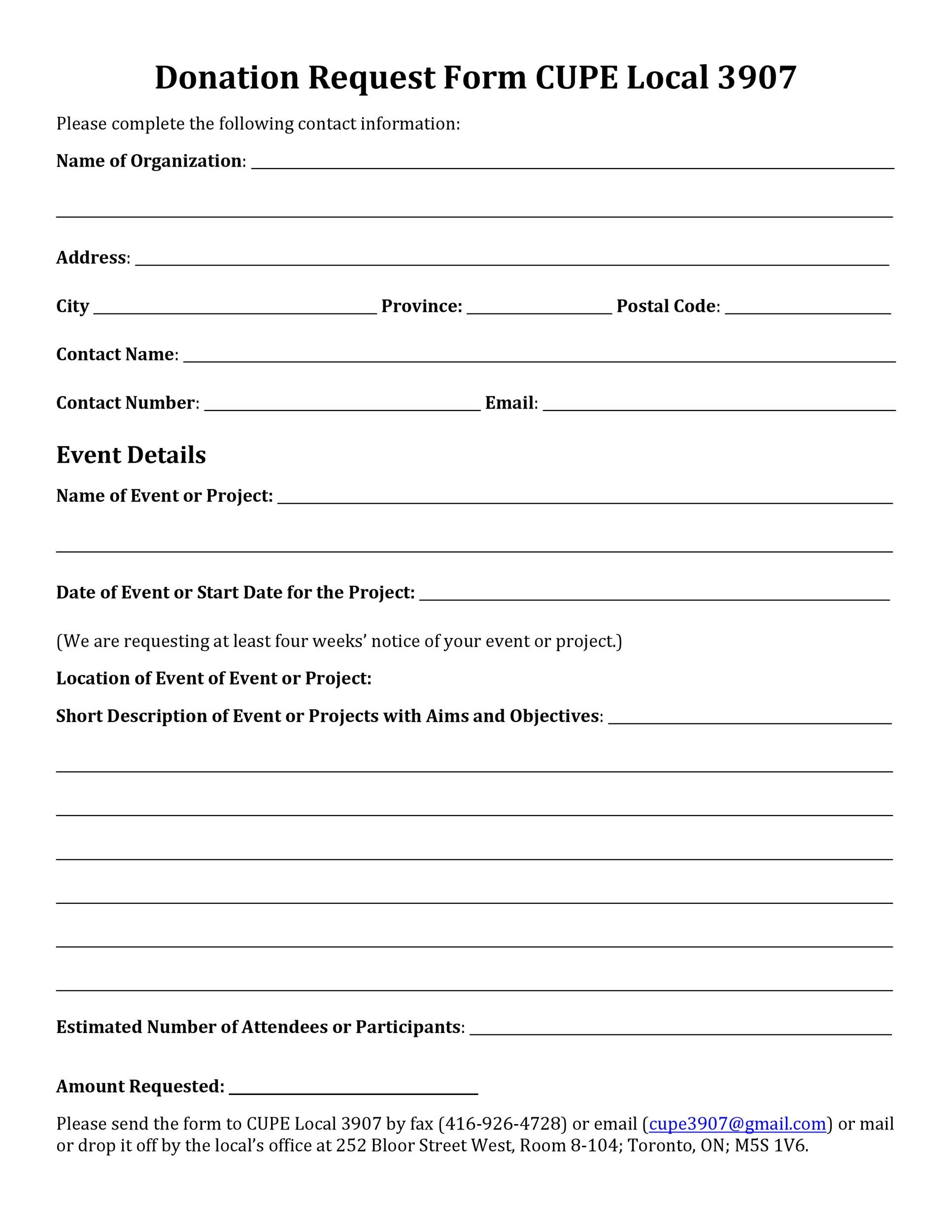 request for donation form template - Ozilalmanoof - Donation Form Templates