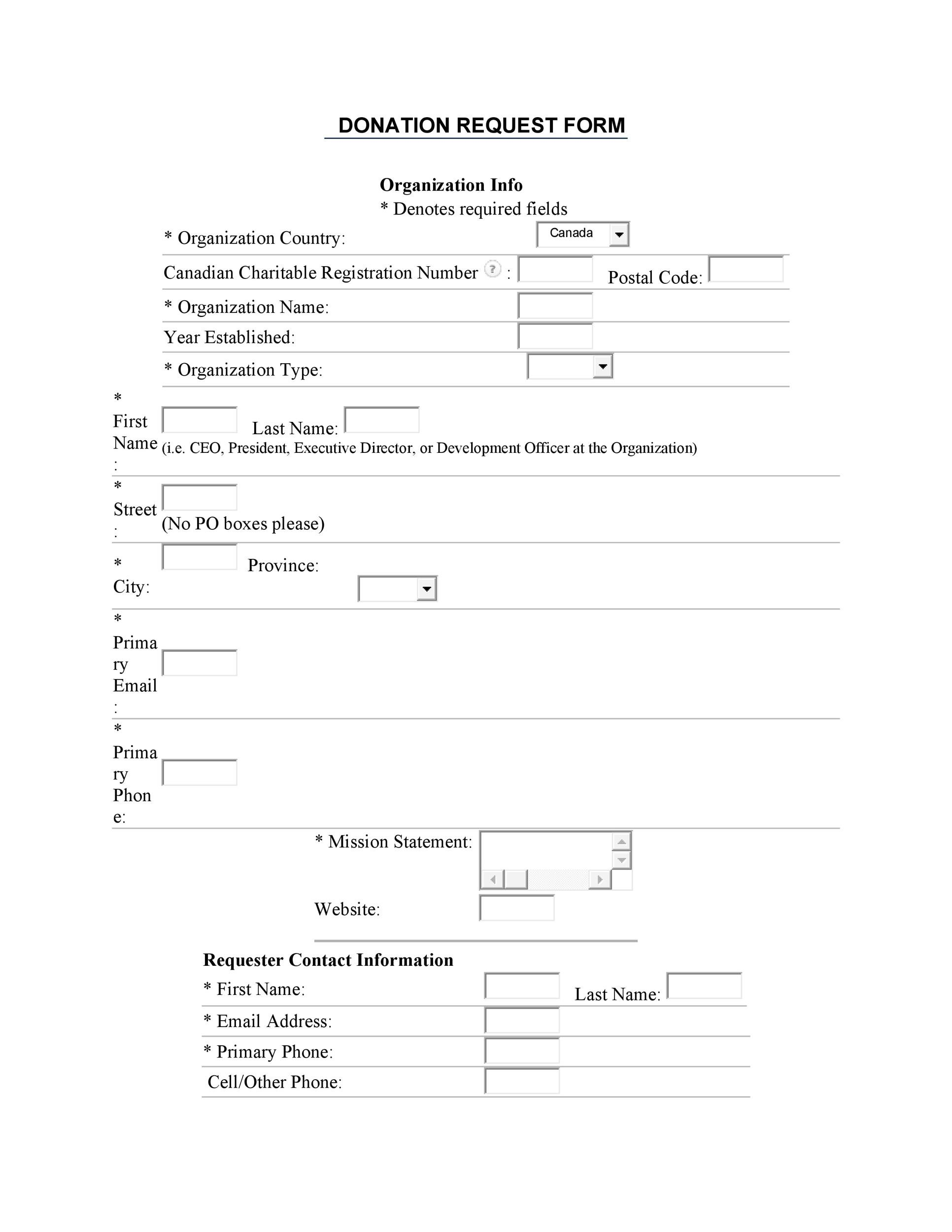 43 FREE Donation Request Letters  Forms - Template Lab - donation request form