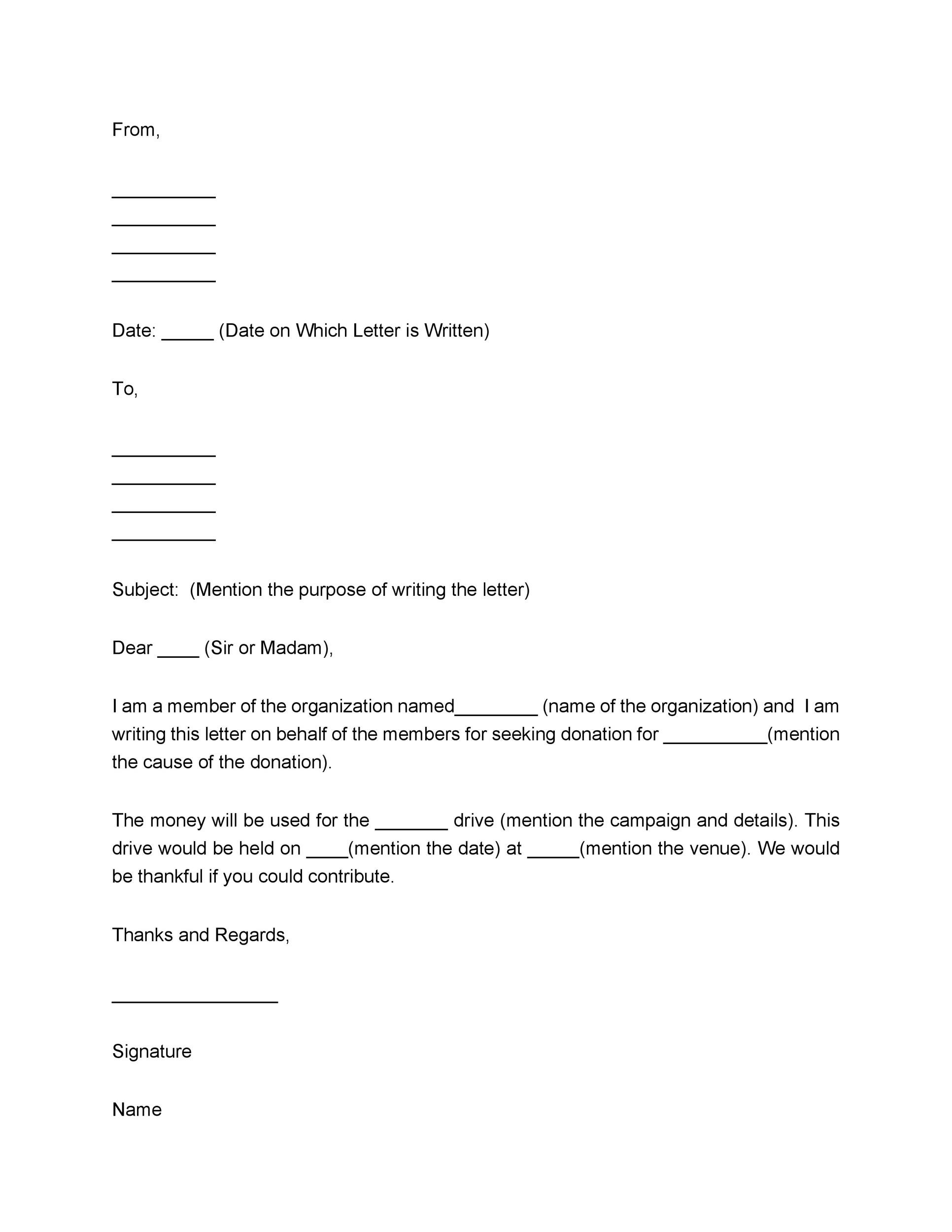 43 FREE Donation Request Letters  Forms - Template Lab