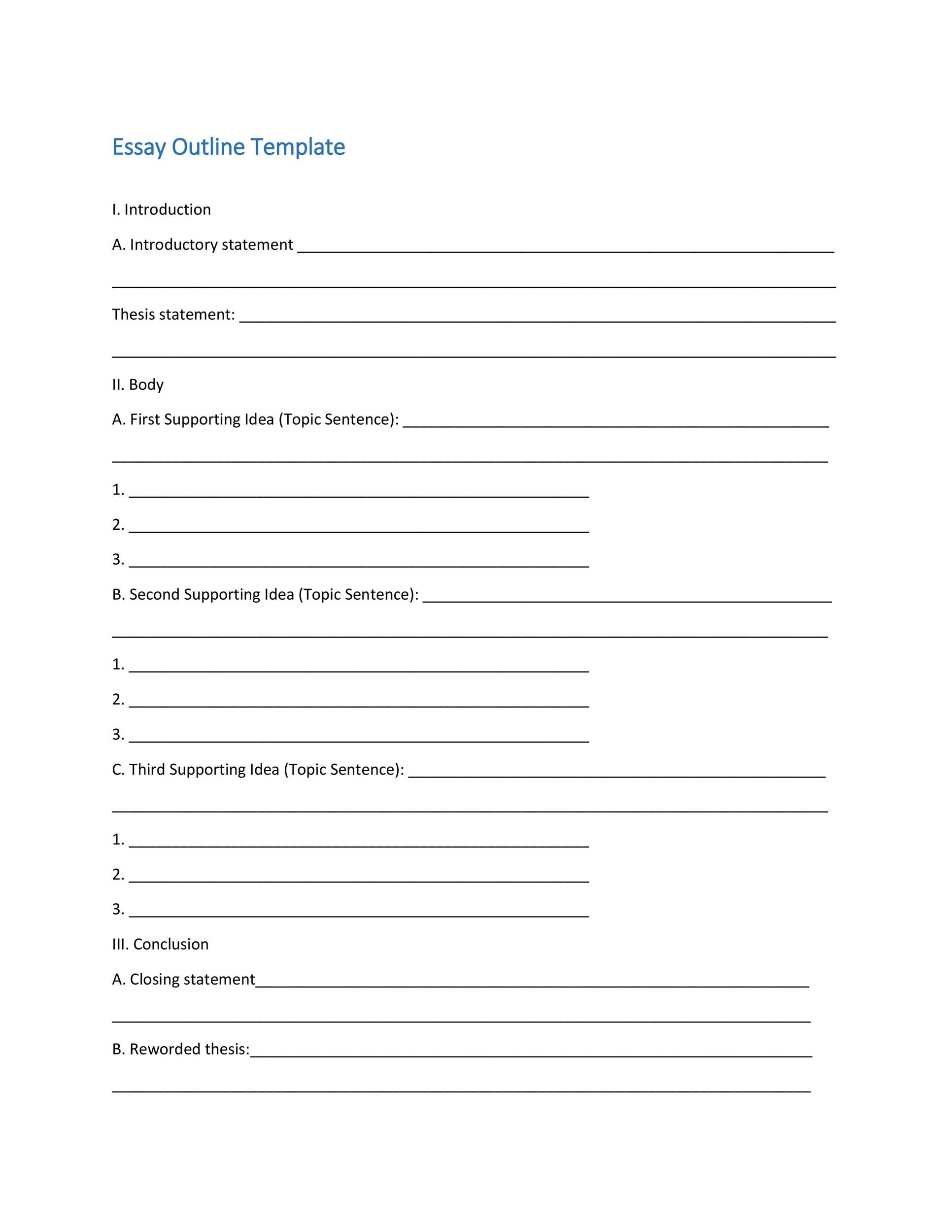 printable outline template - Onwebioinnovate - blank outline template