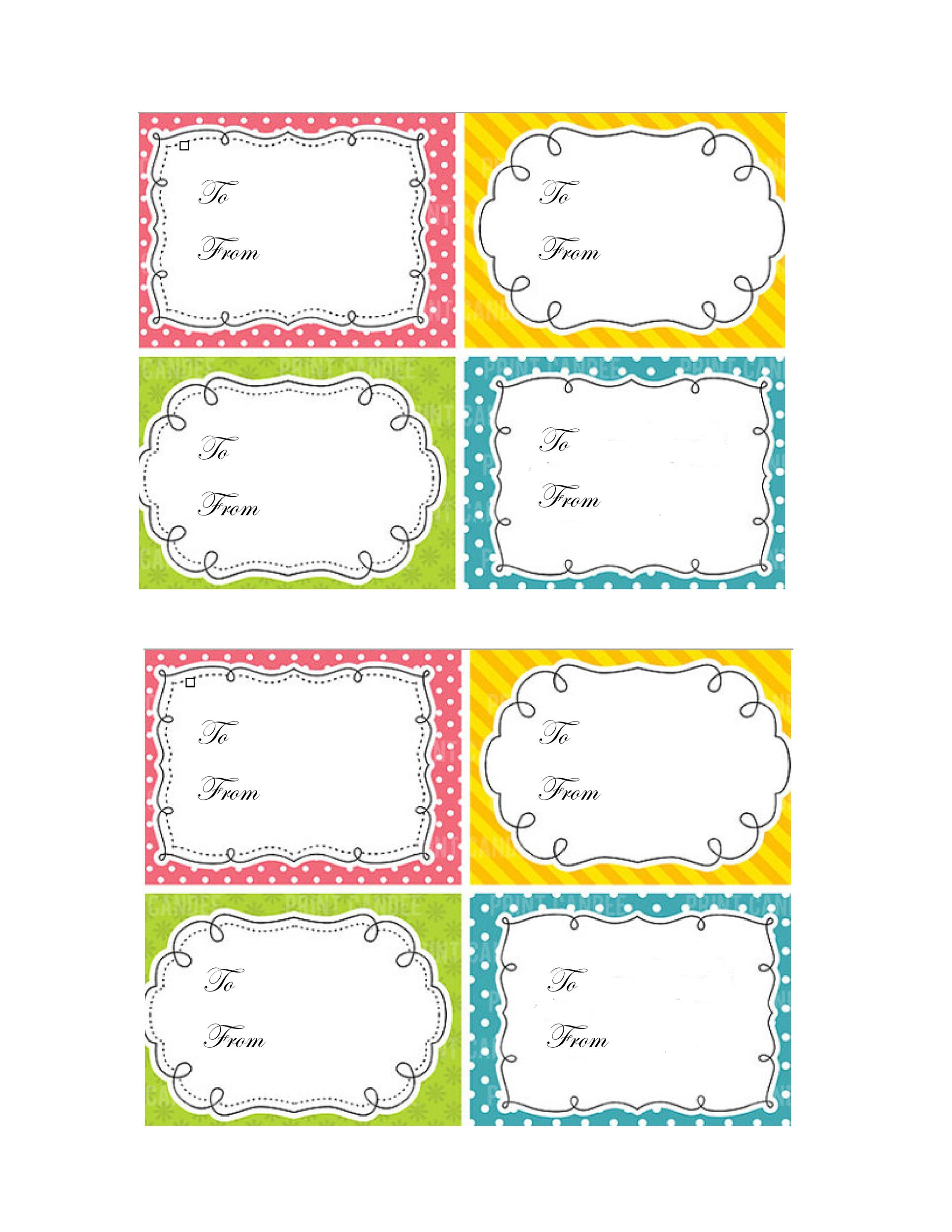 44 Free Printable Gift Tag Templates ᐅ Template Lab