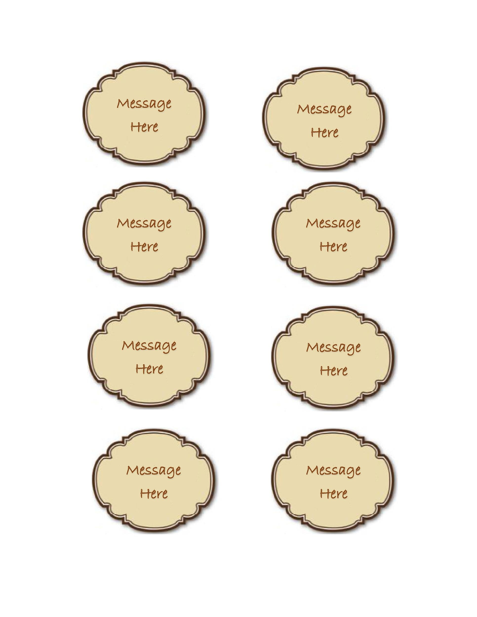 44 Free Printable Gift Tag Templates - Template Lab - gift tag template