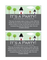 40+ Free Printable Housewarming Party Invitation Templates