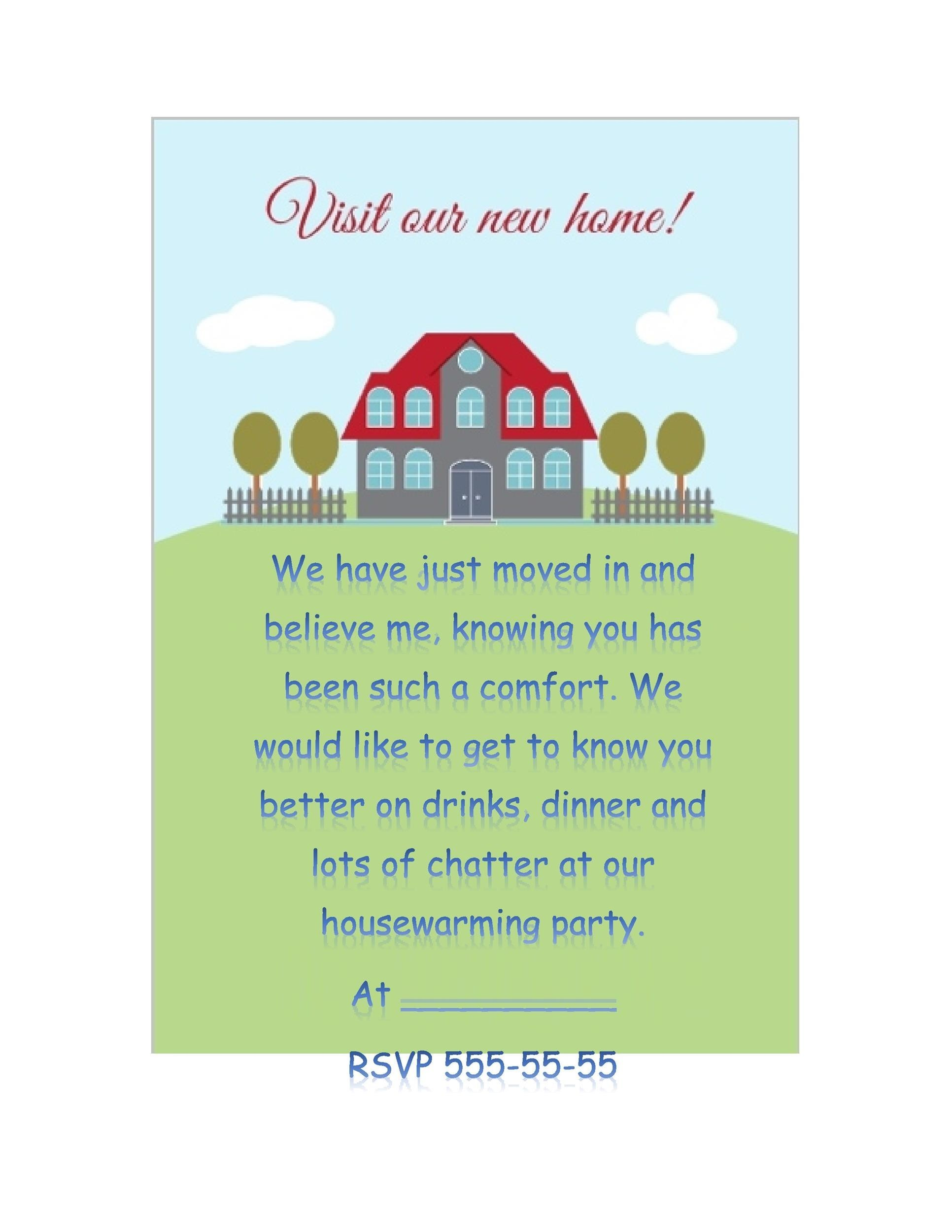 housewarming party invitation letter
