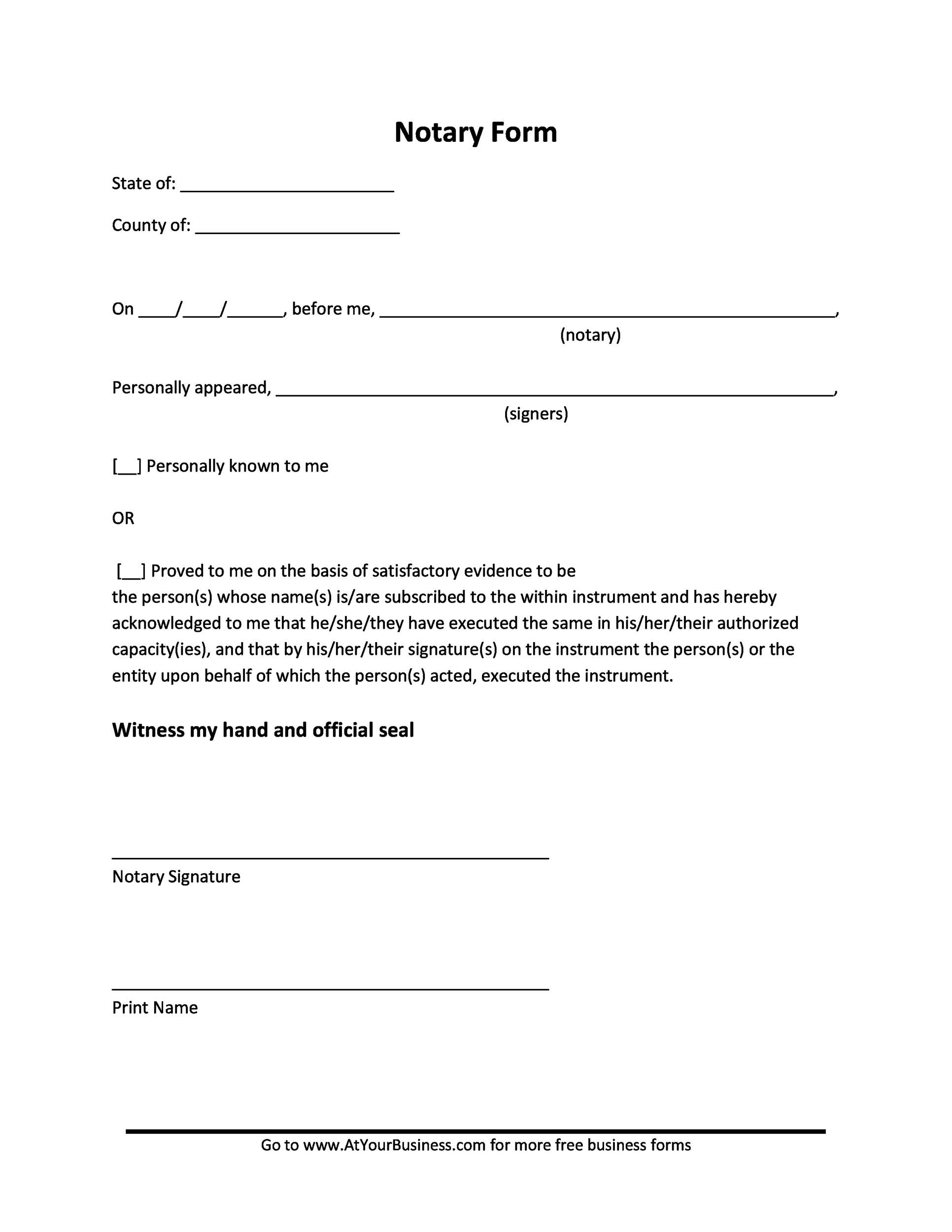 notary letter sample - Boatjeremyeaton - notary template