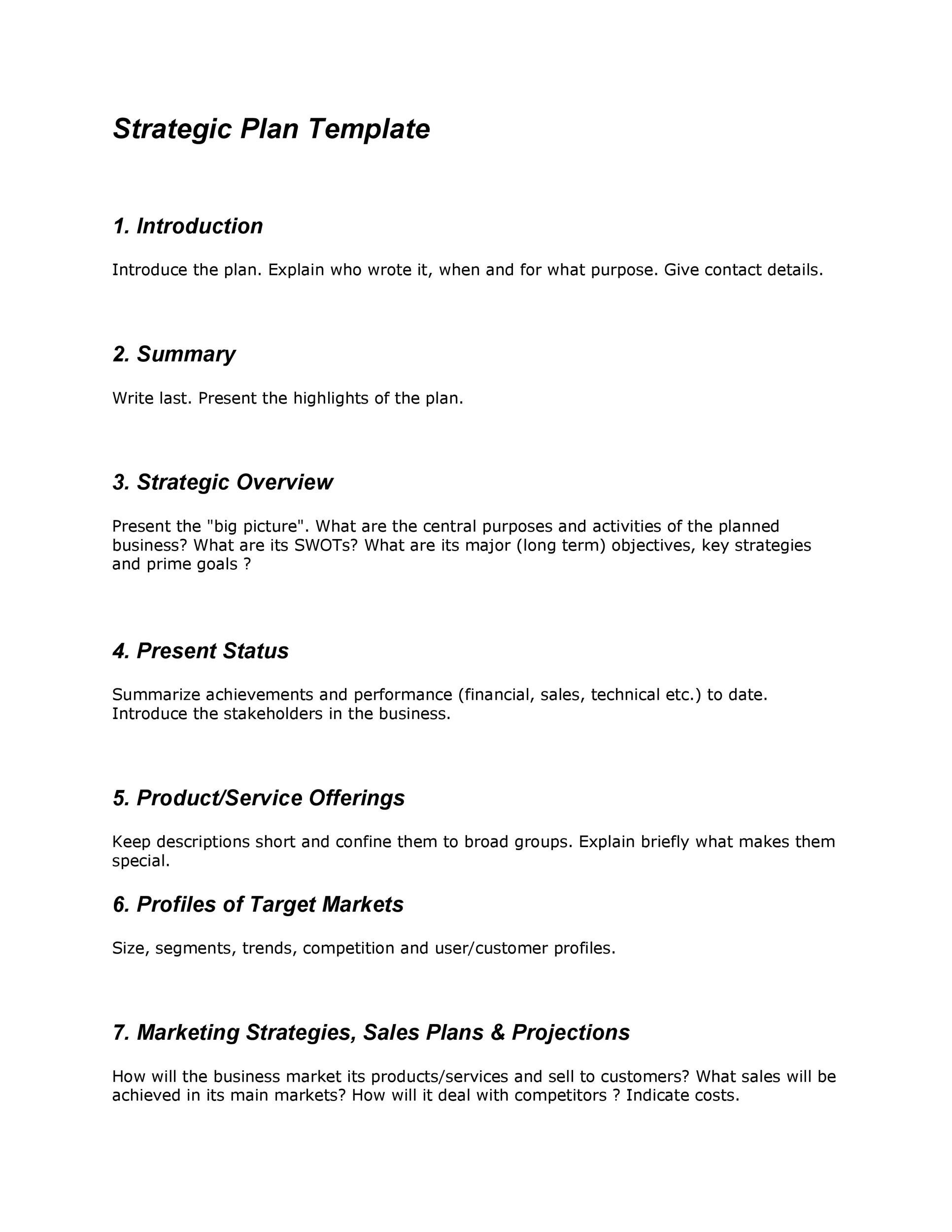 32 Great Strategic Plan Templates to Grow your Business - strategic plan template