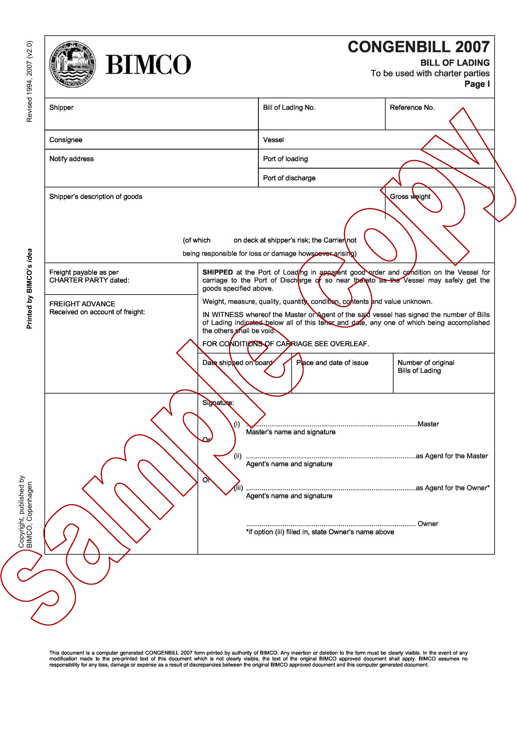 Bill Of Lading Template Form Pdf Download 40 Free Bill Of Lading Forms And Templates Template Lab