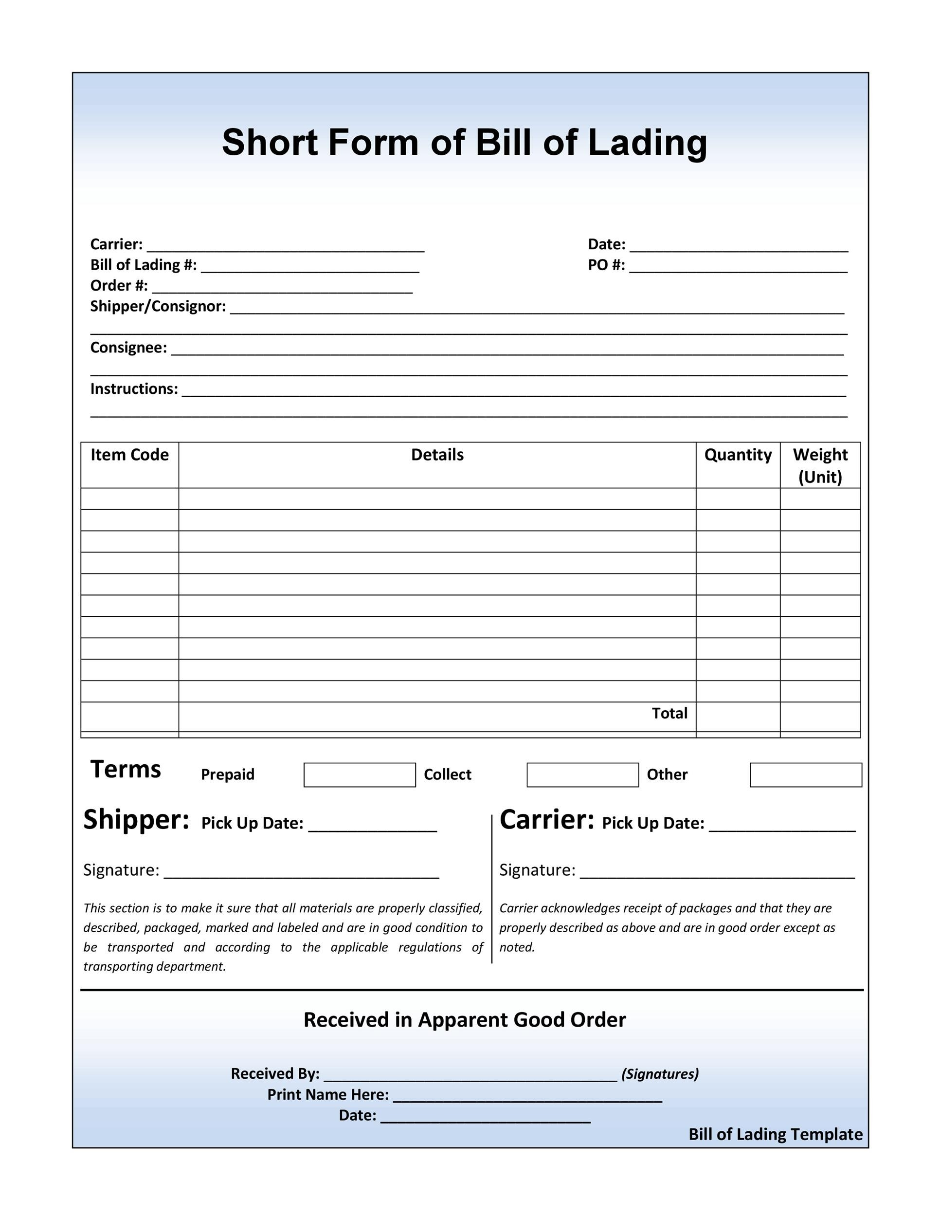 Classic Bill Of Lading Software Smartbol Doc882736 Goods Received Note Format – Autocount