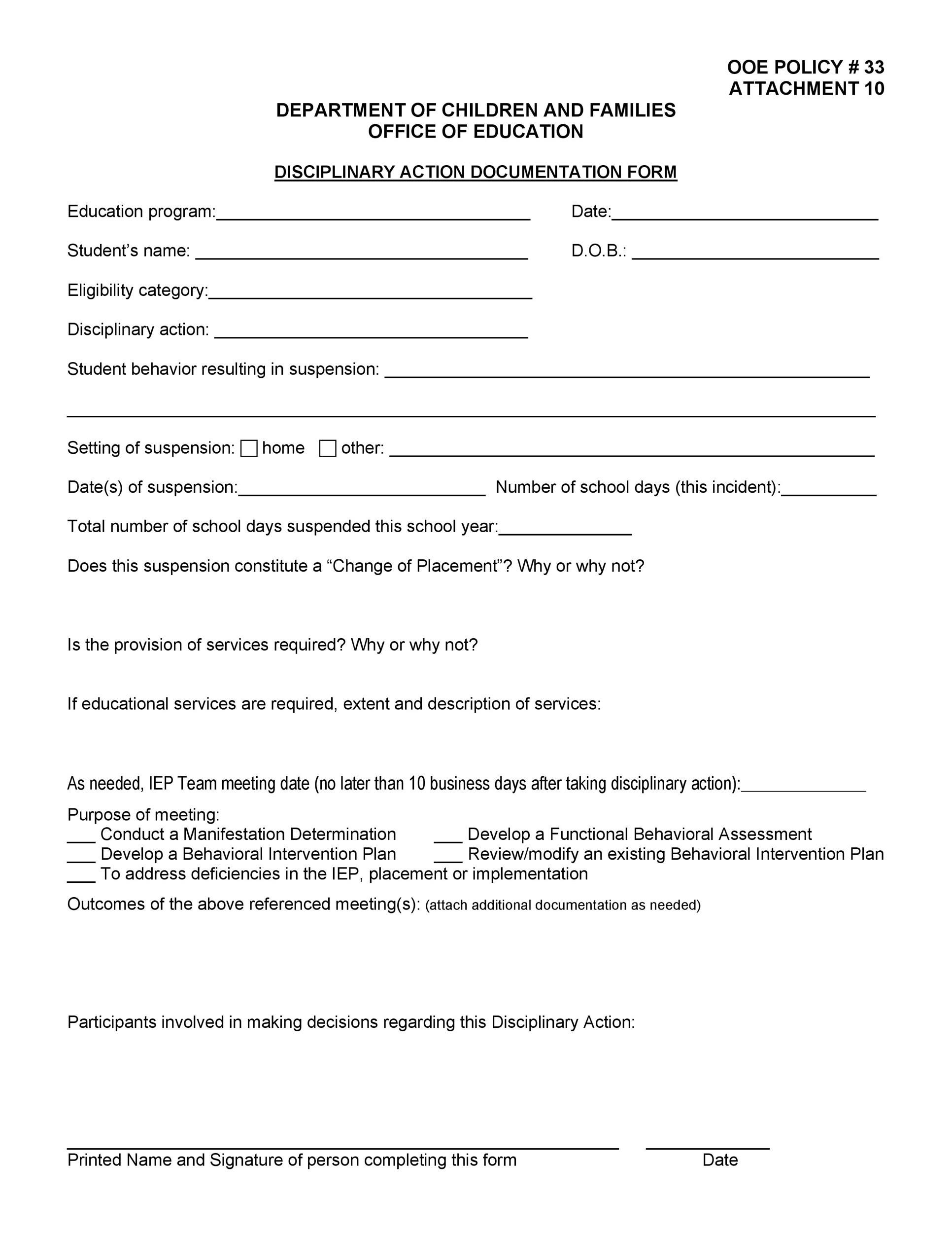 Employee Write Up Form Downloadable Printable Wordpdf 46 Effective Employee Write Up Forms Disciplinary