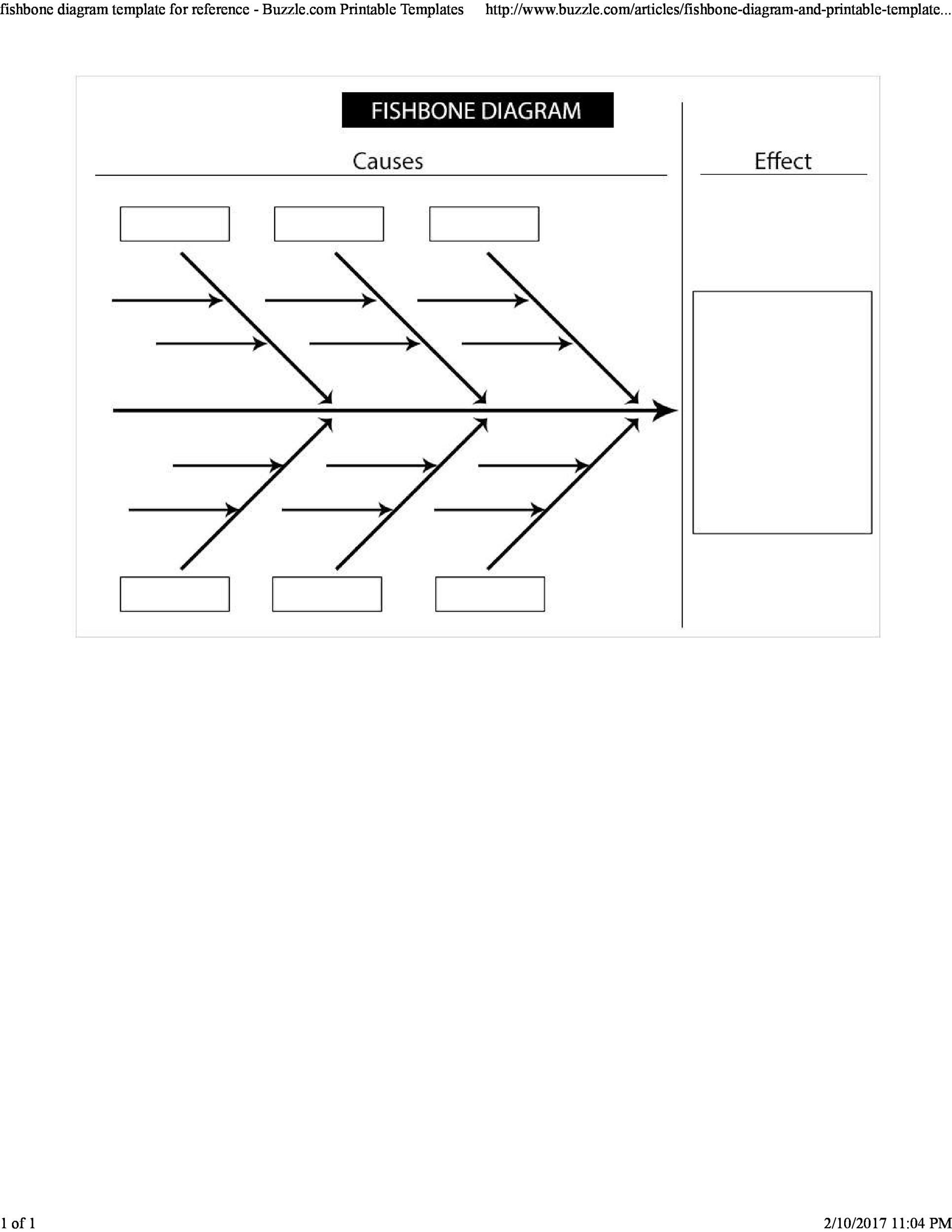 43 Great Fishbone Diagram Templates  Examples Word, Excel - fishbone template