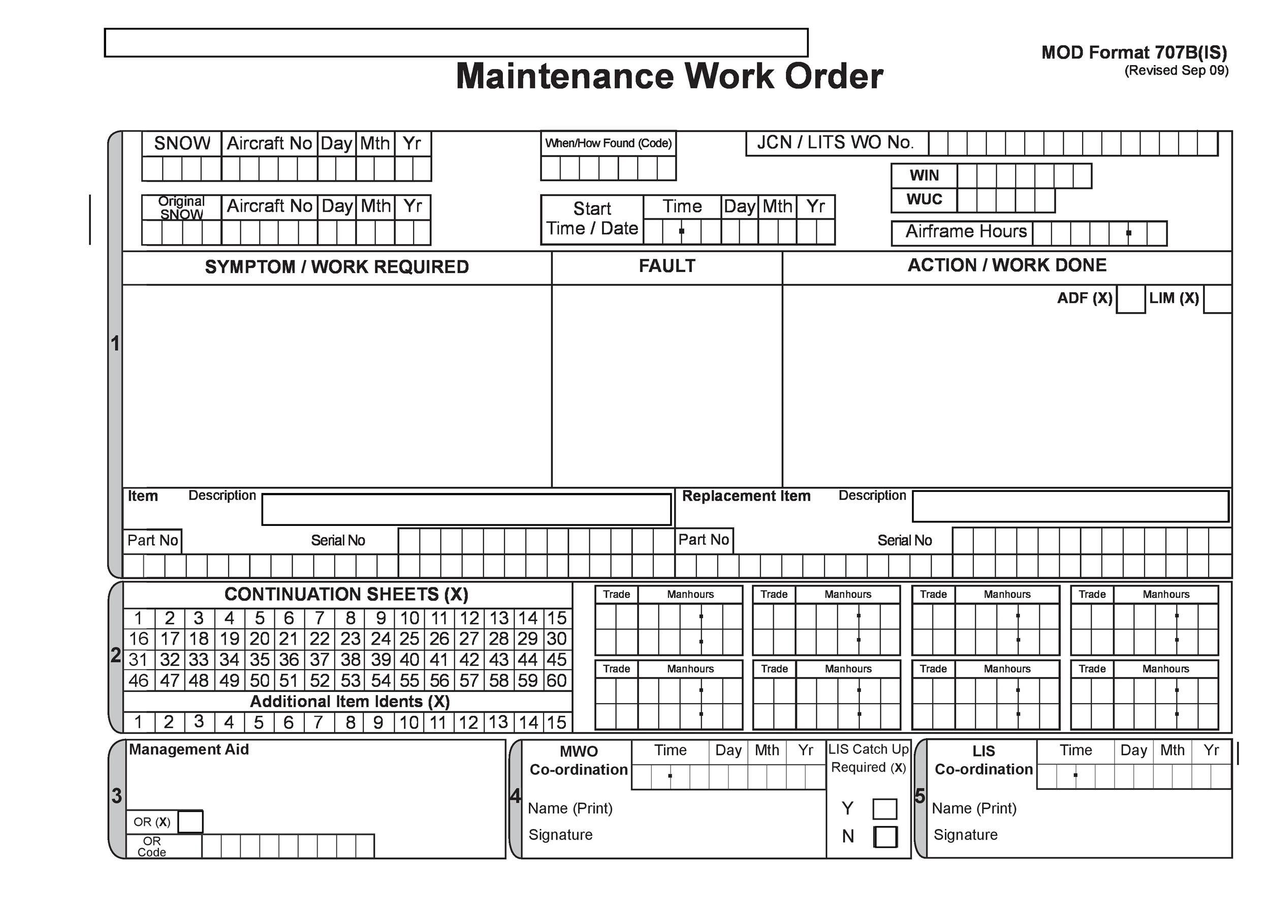 work order sheets - Blackdgfitness - maintenance work order form