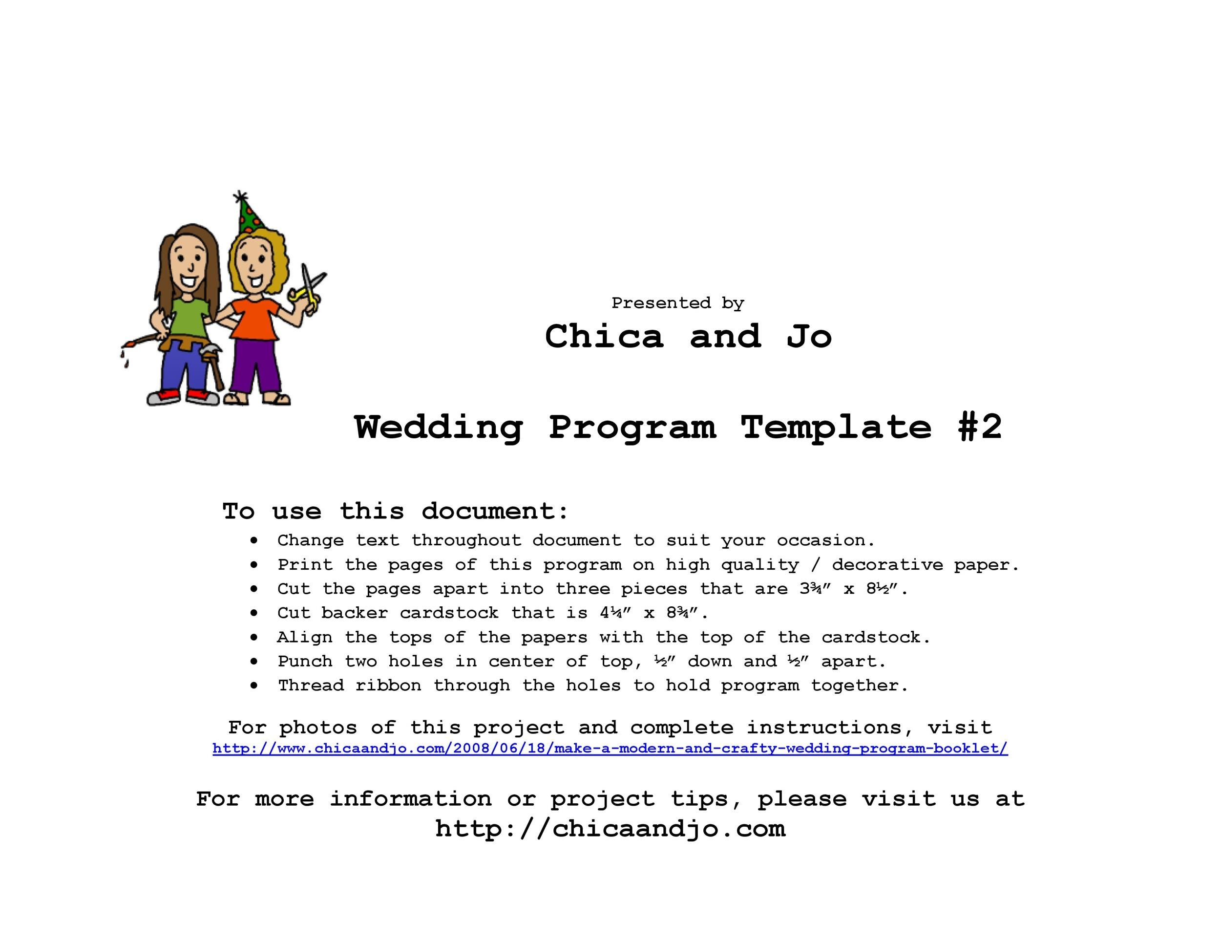 37 Printable Wedding Program Examples  Templates - Template Lab - wedding program template