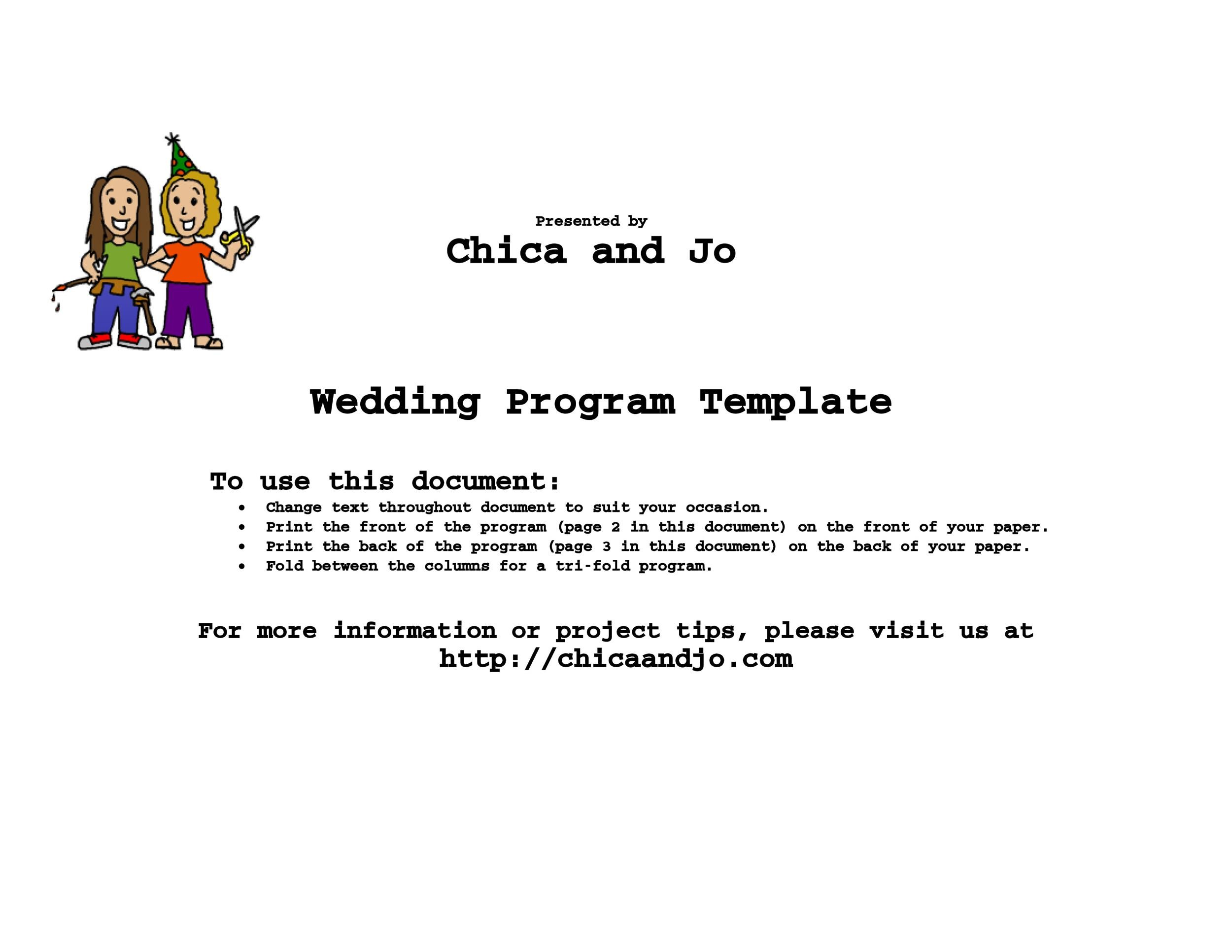 37 Printable Wedding Program Examples  Templates ᐅ Template Lab