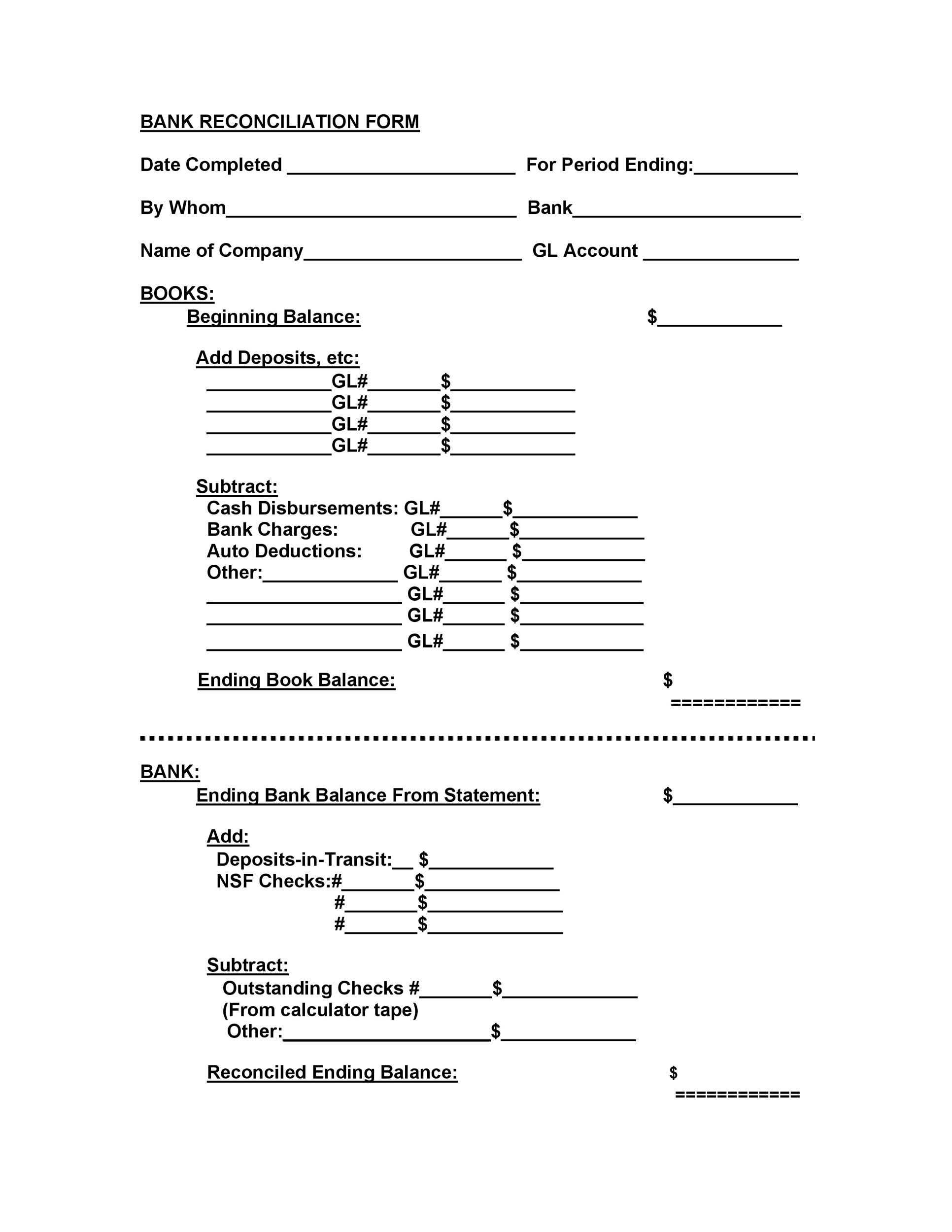50+ Bank Reconciliation Examples  Templates 100 Free - bank reconciliation sheet