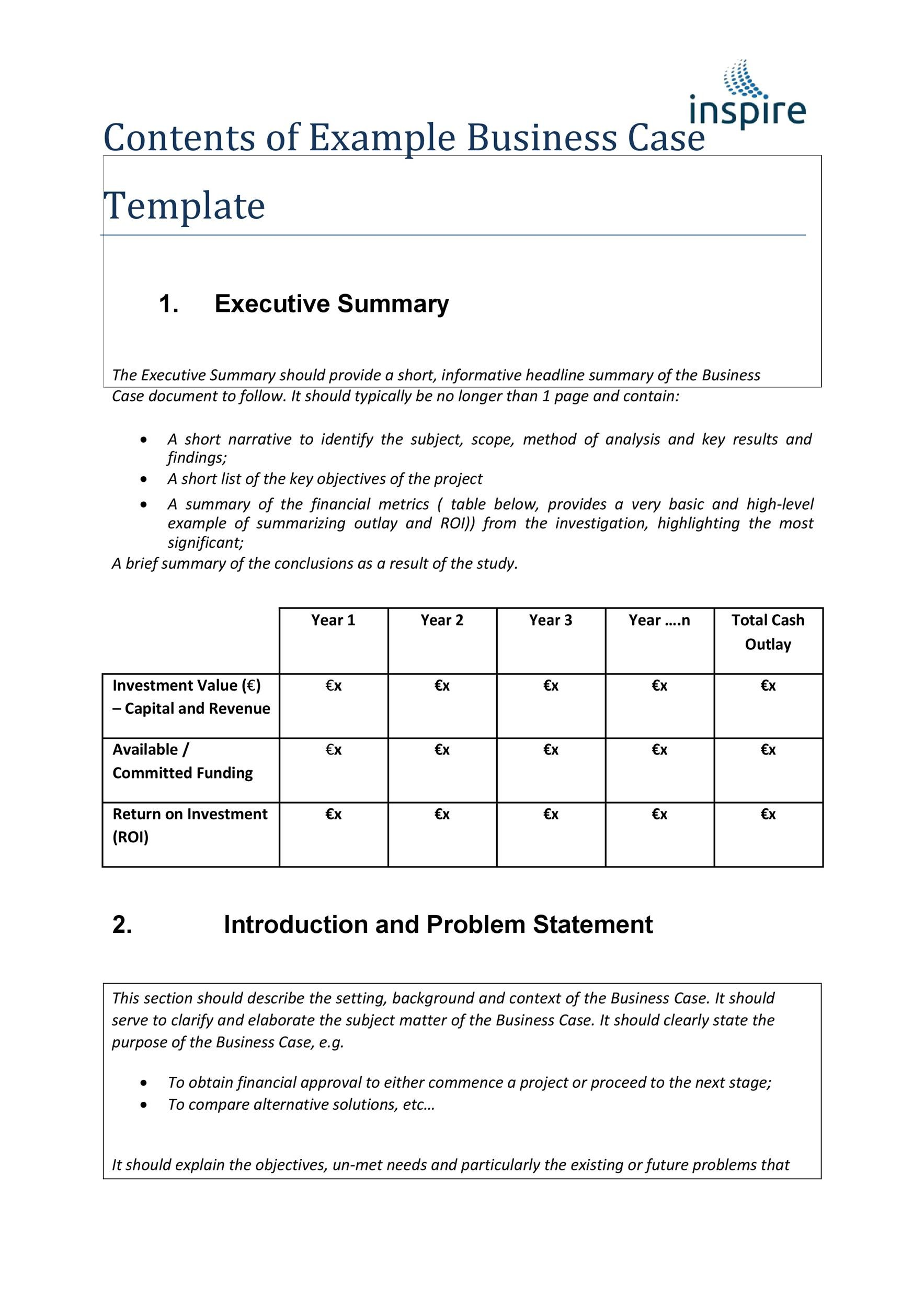 30+ Simple Business Case Templates  Examples - Template Lab - Business Case Examples Free