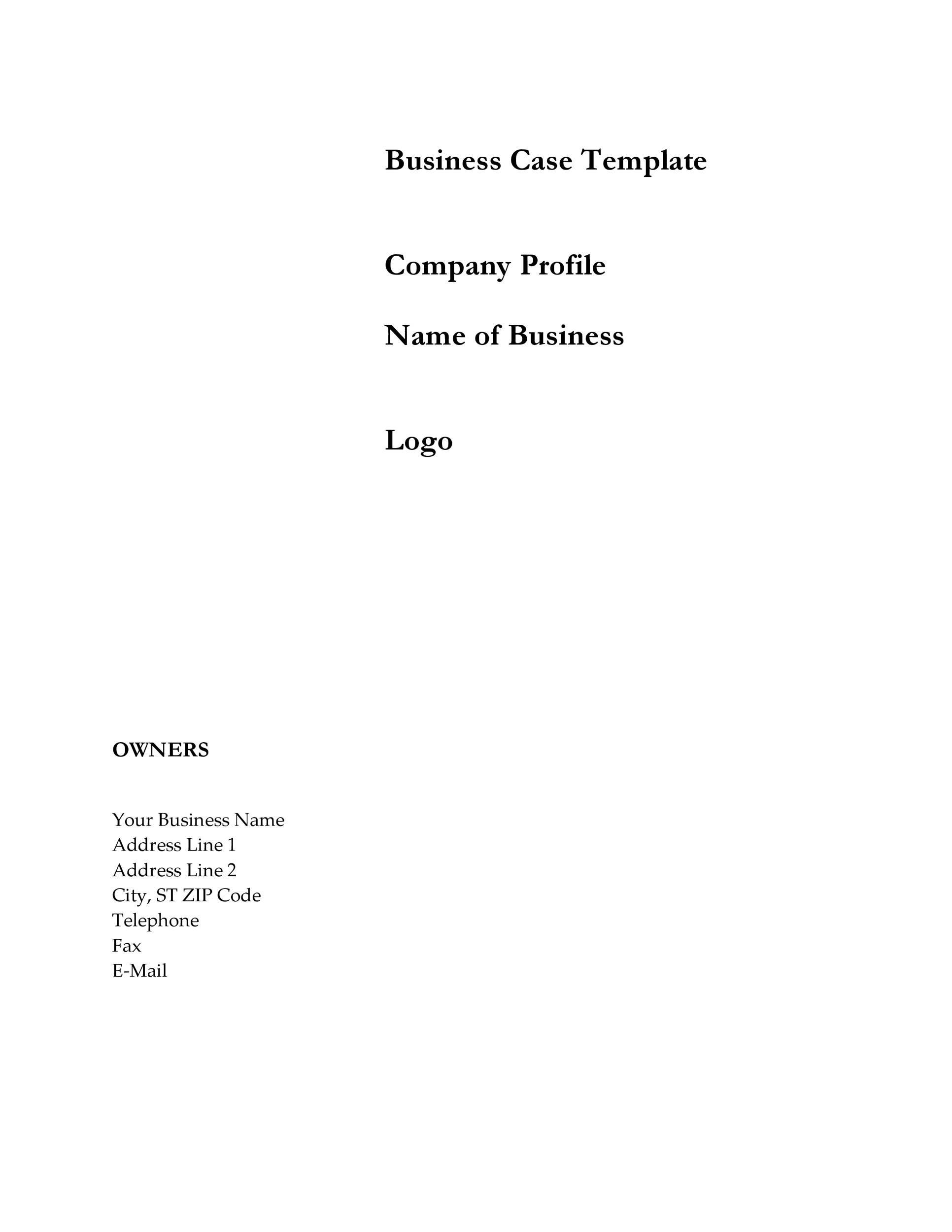 Business company profile template getjobcsatco – Simple Business Case Template