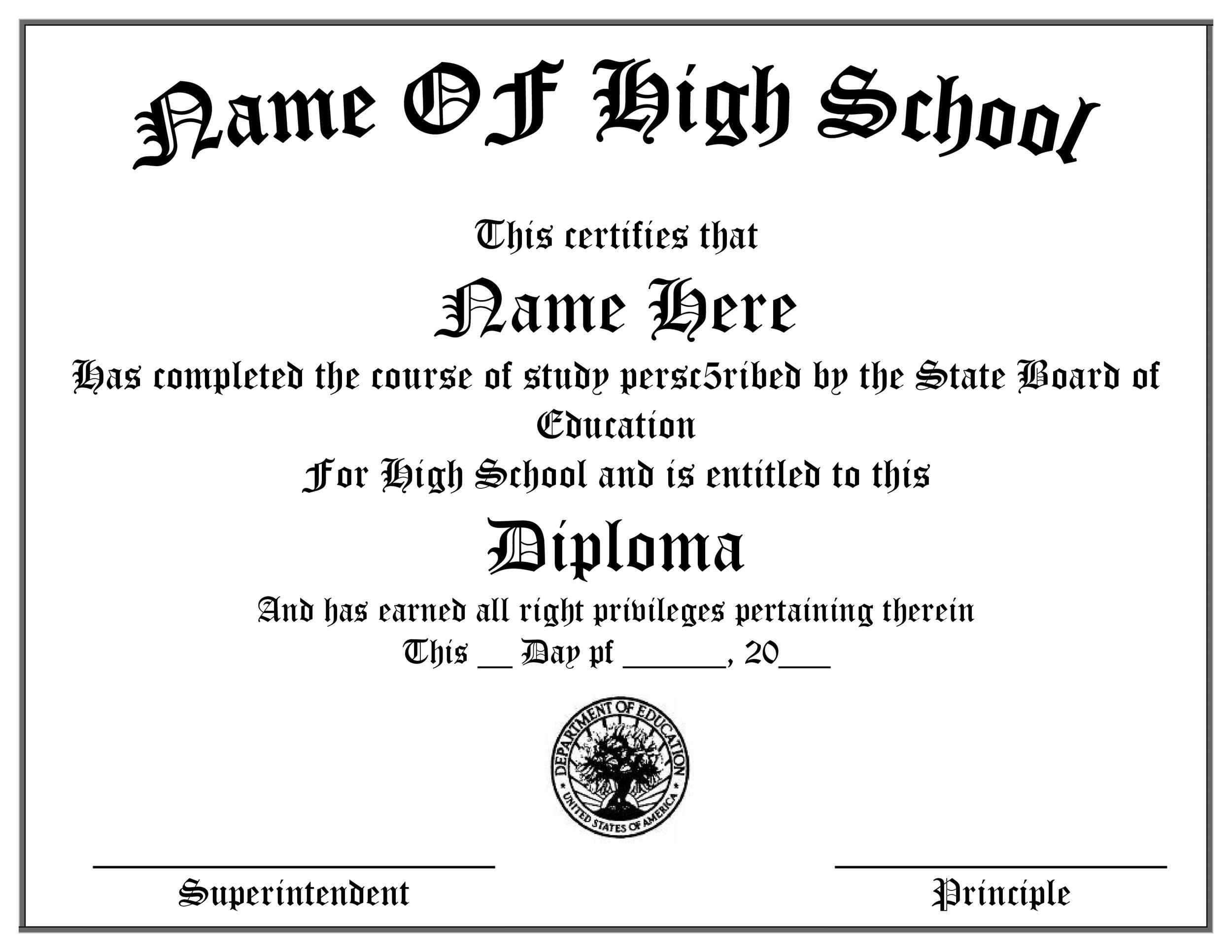30 Real  Fake Diploma Templates (High school, College, Homeschool)