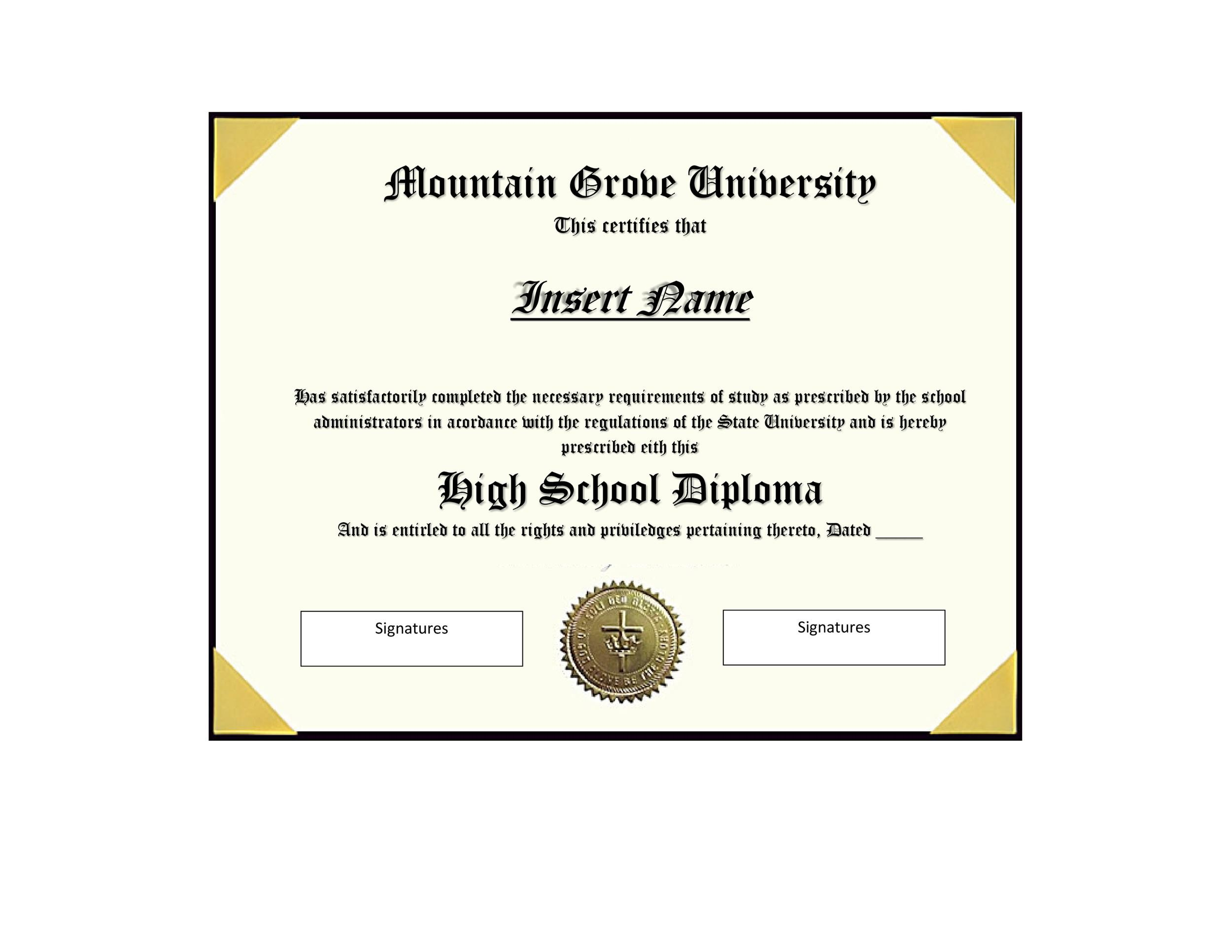 30 Real  Fake Diploma Templates (High school, College, Homeschool)