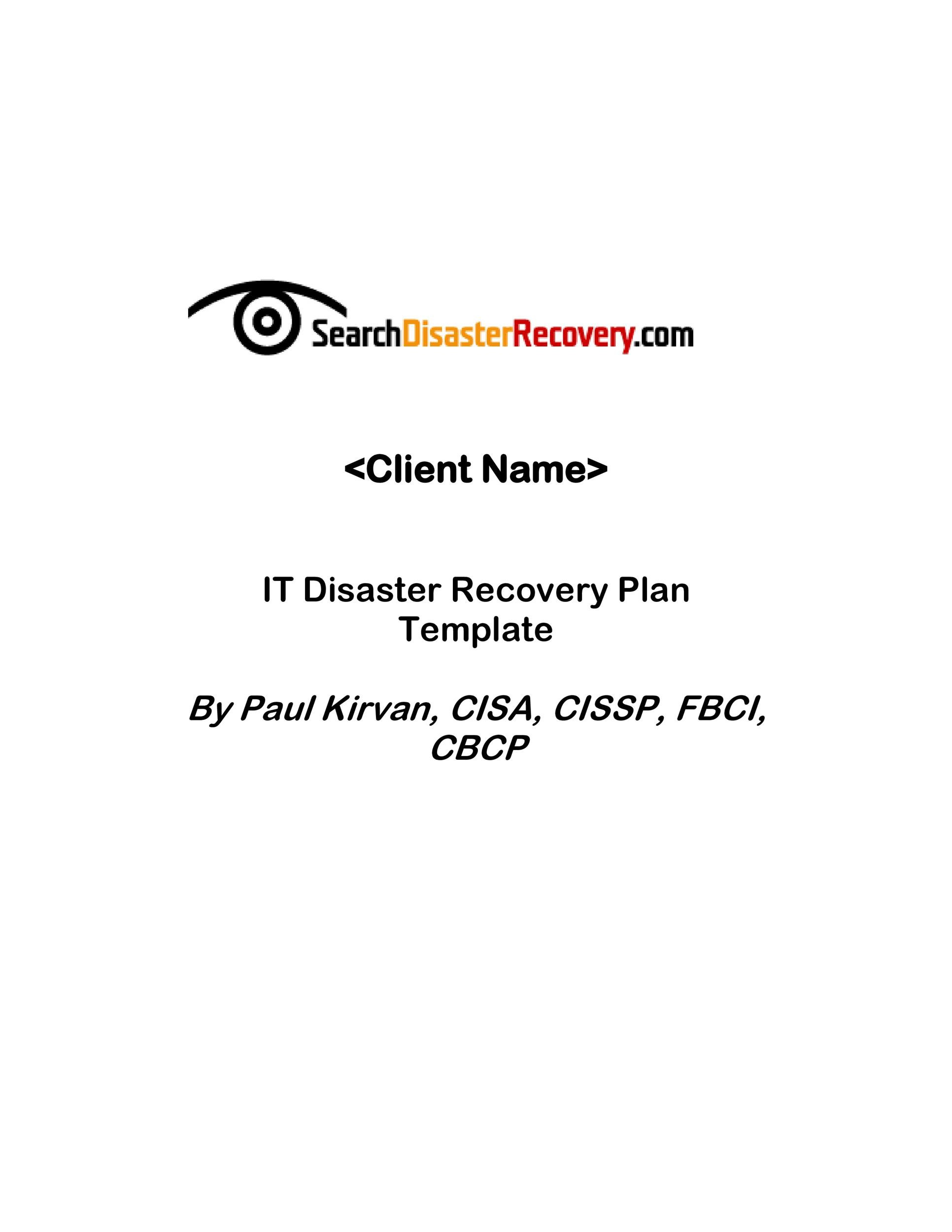 52 Effective Disaster Recovery Plan Templates DRP - Template Lab - recovery plan