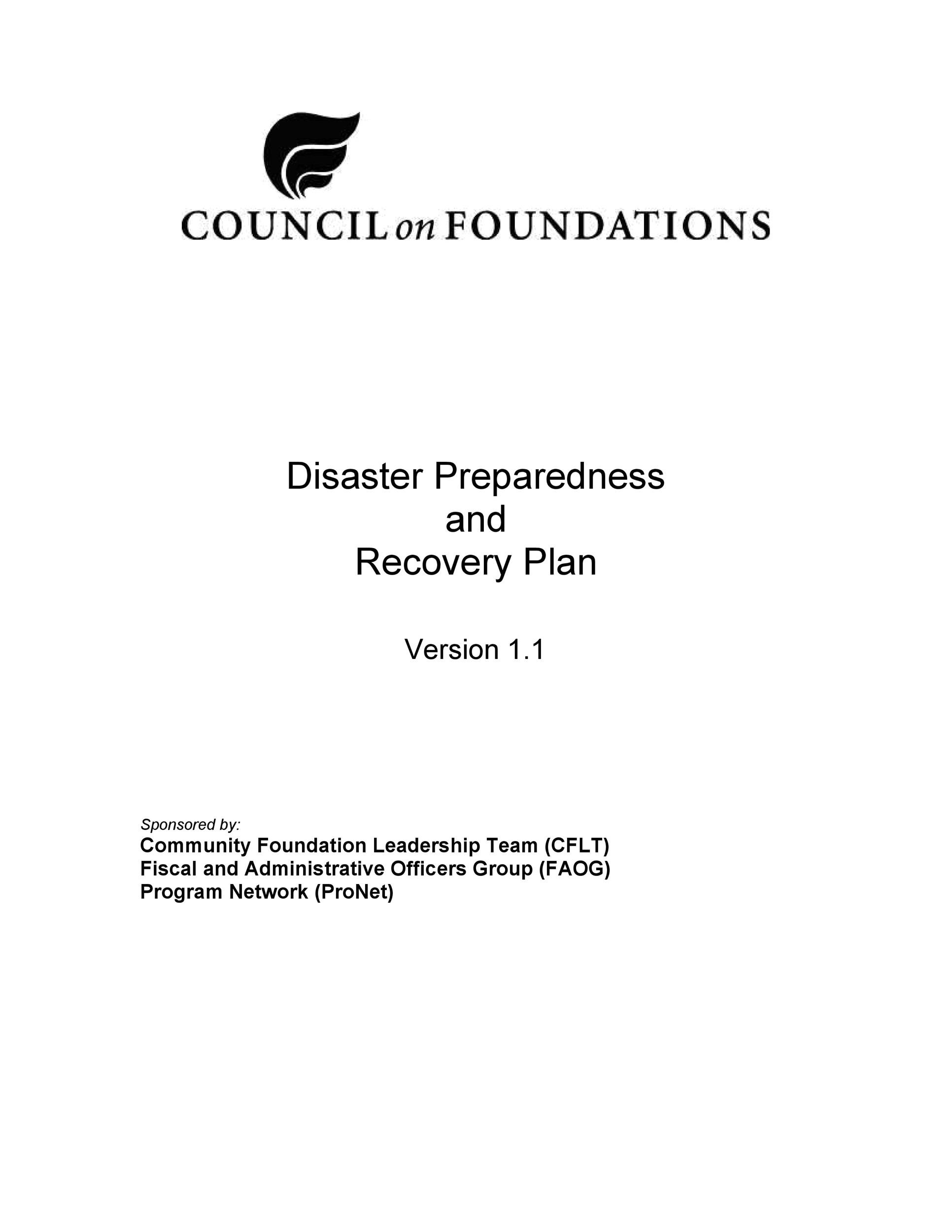 52 Effective Disaster Recovery Plan Templates DRP - Template Lab - recovery plans