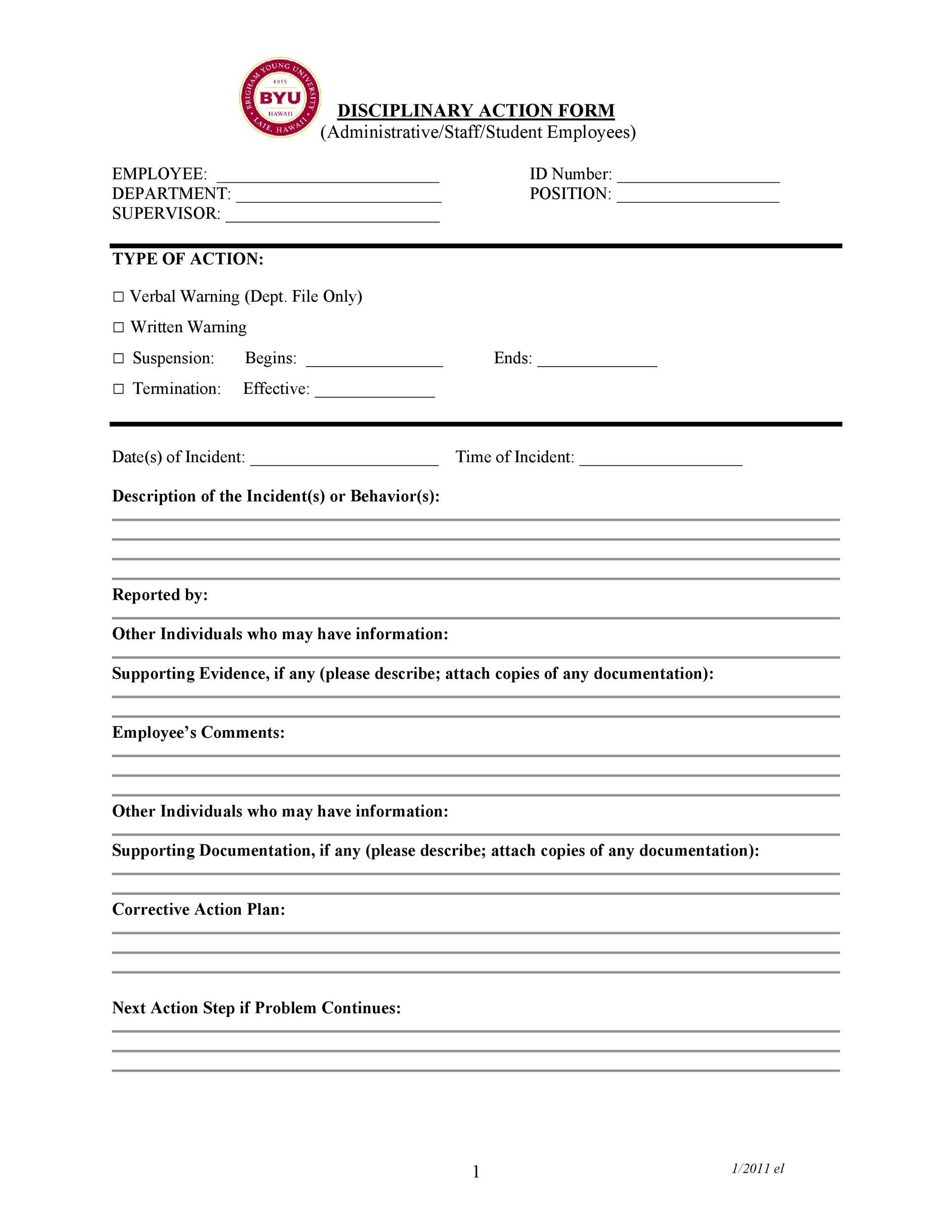 Disciplinary Memo Template 23+ hr warning letters - free sample - disciplinary memo template