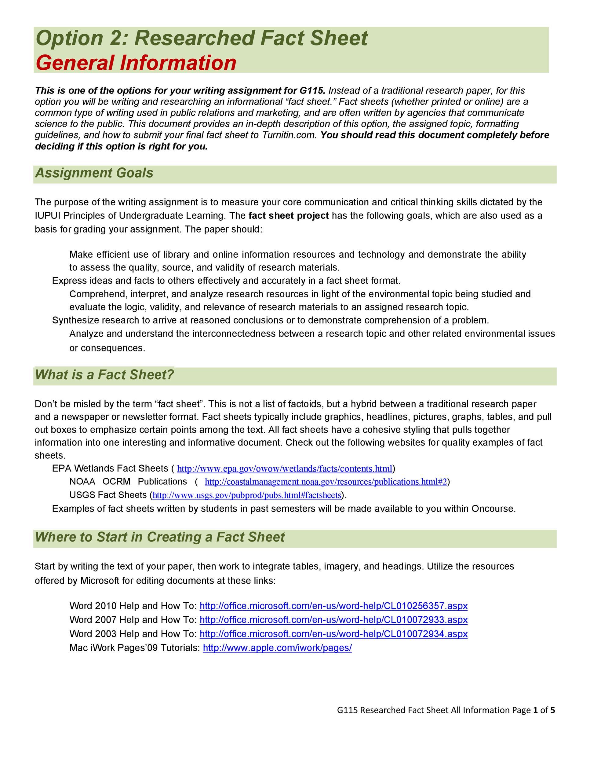 60+ Beautiful Fact Sheet Templates, Examples and Designs - fact sheet templates