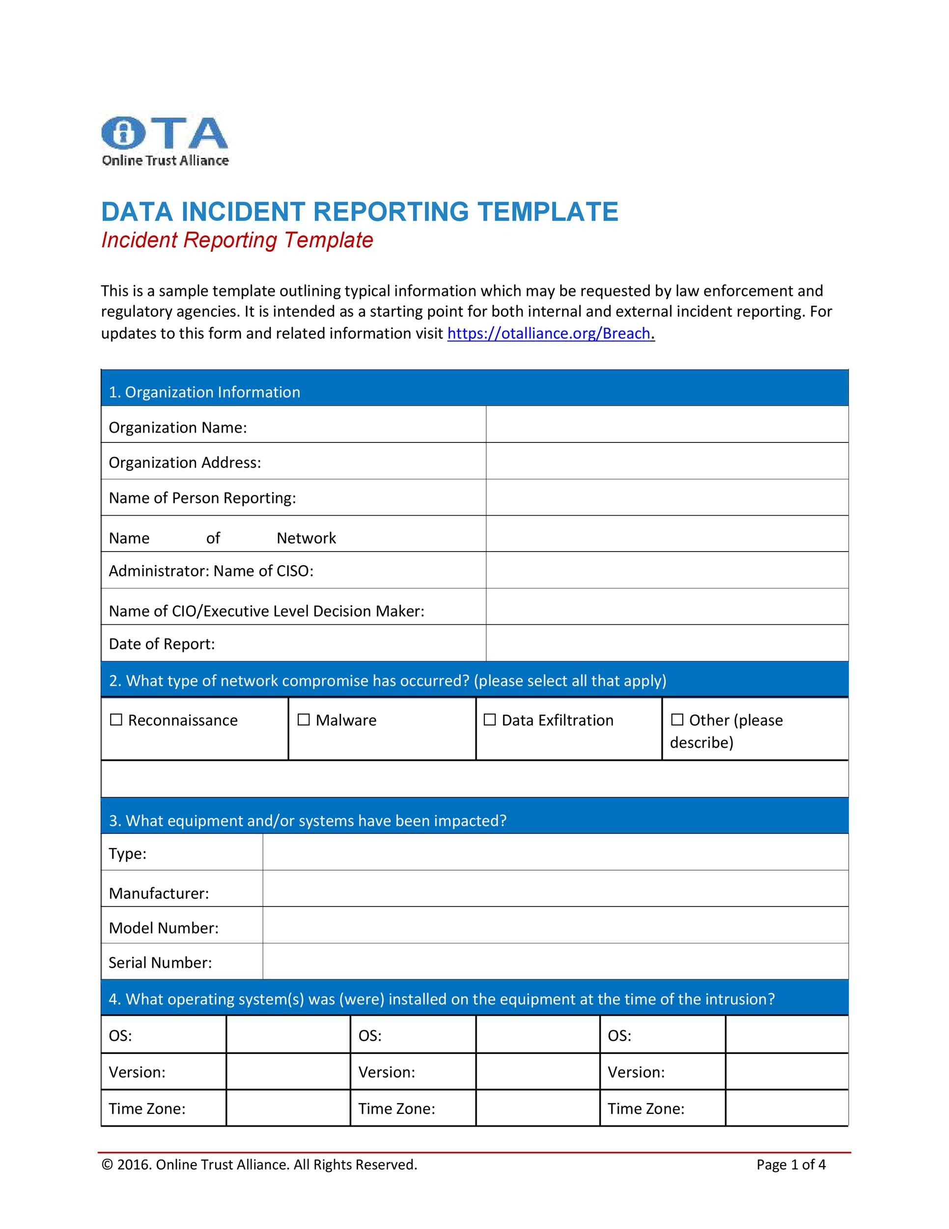 60+ Incident Report Template Employee, Police, Generic - Template Lab