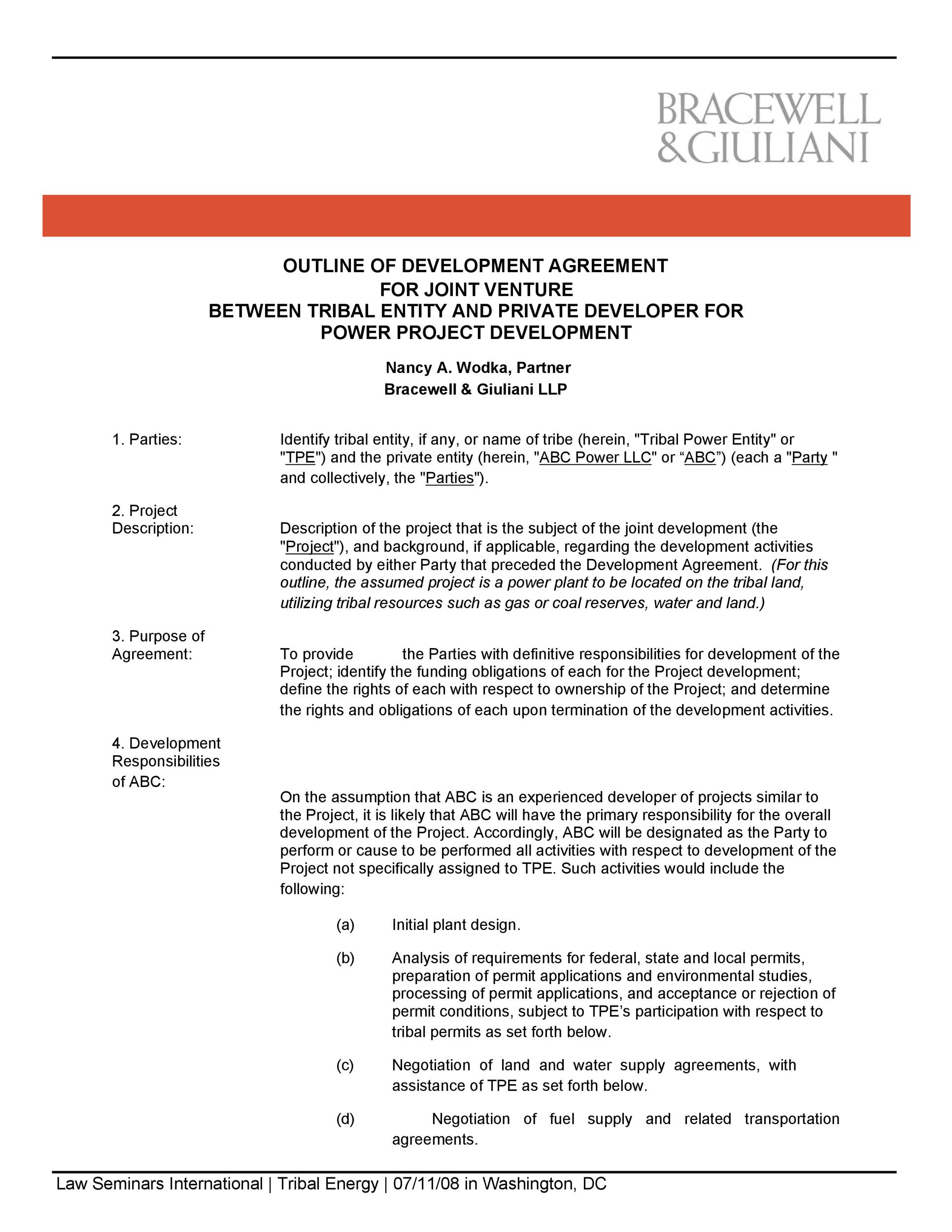 53 Simple Joint Venture Agreement Templates PDF, DOC ᐅ Template Lab