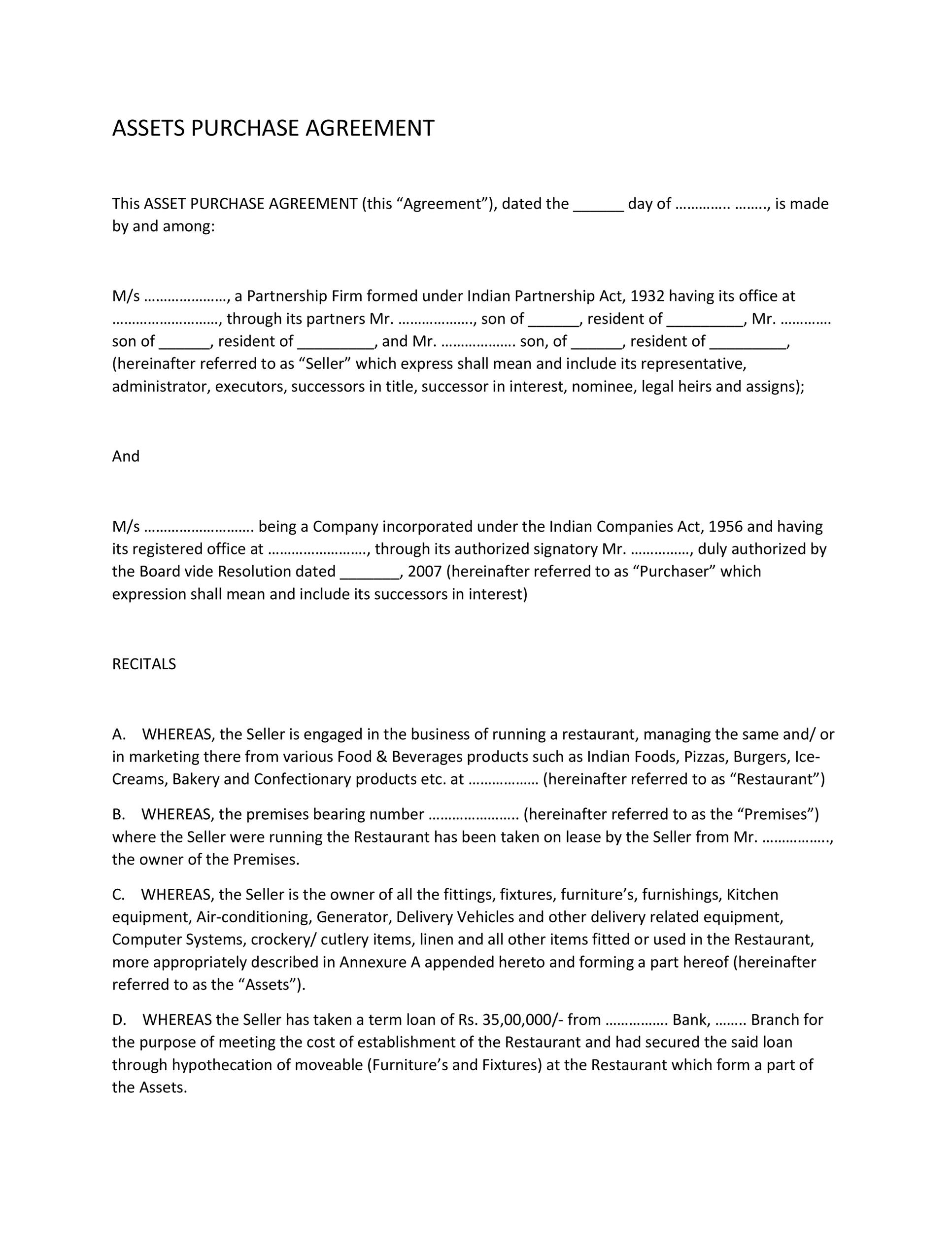 Business Agreement Form 12 Best Images Of Free Sample Partnership - sample business purchase agreement